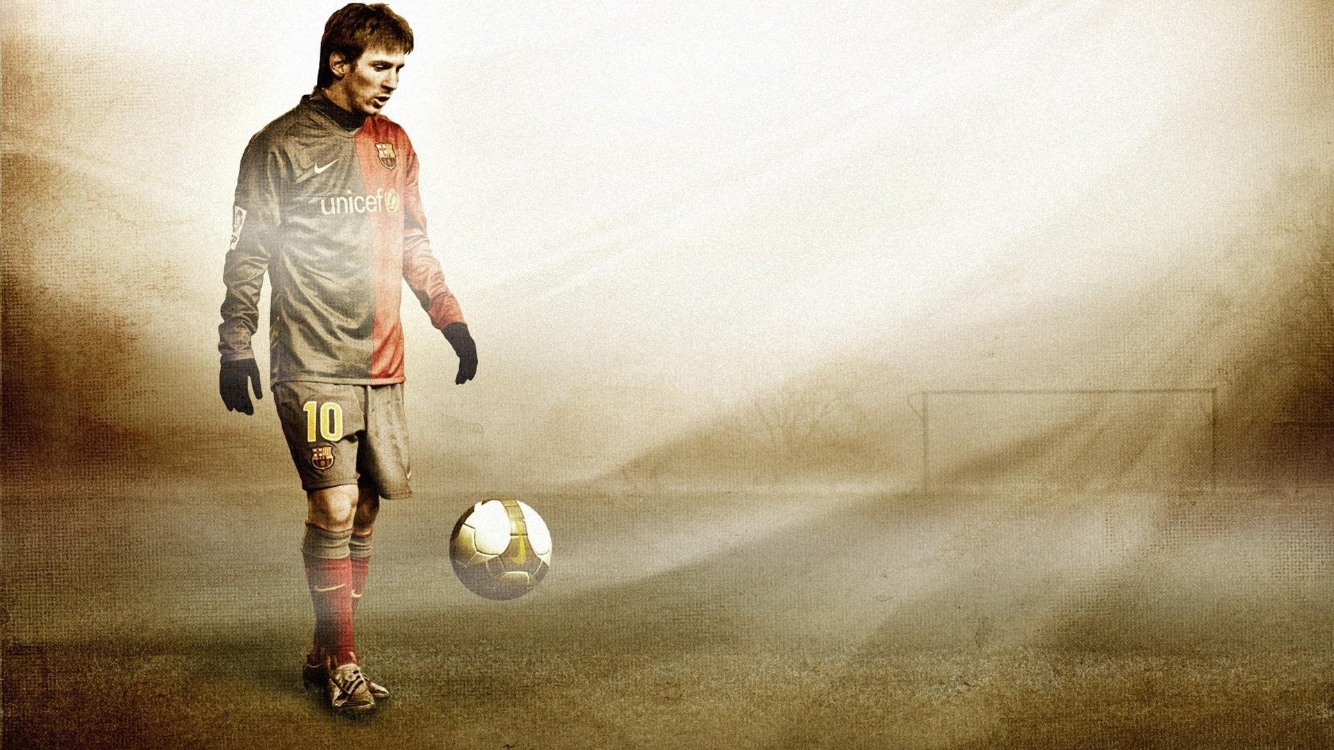 … Background Full HD 1080p. Wallpaper lionel messi, football,  ball, field, gate, footballer