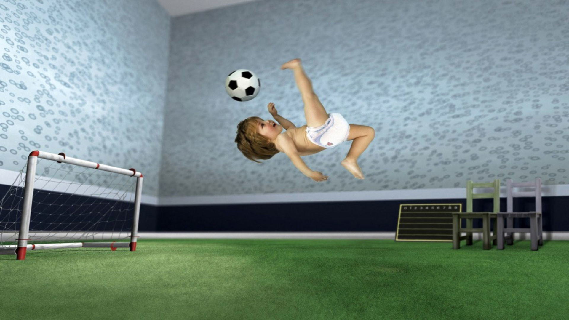hd pics photos funny baby playing soccer football hd quality desktop  background wallpaper