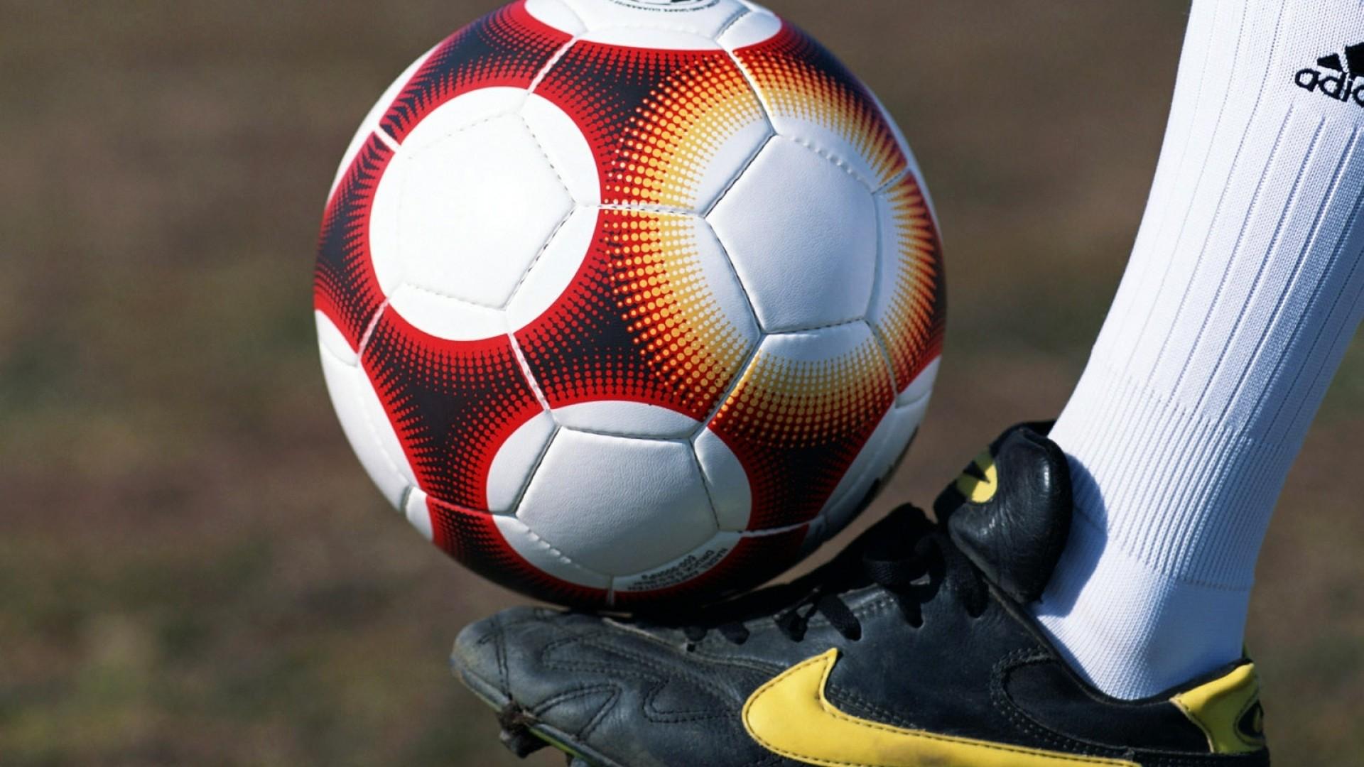 … Background Full HD 1080p. Wallpaper ball, foot, football,  football boots, field