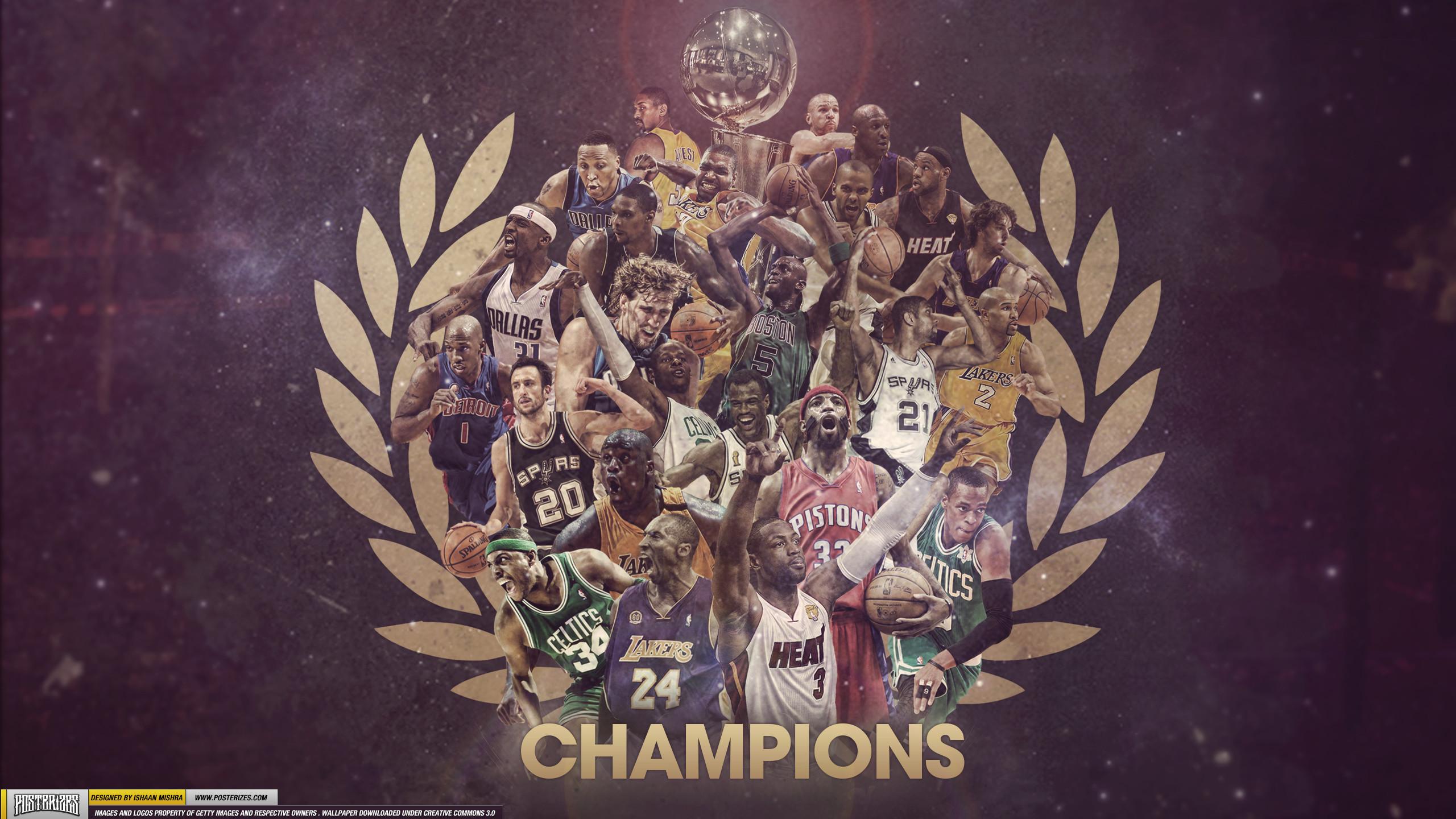 NBA Champions 1999-2012 (WALLPAPER)