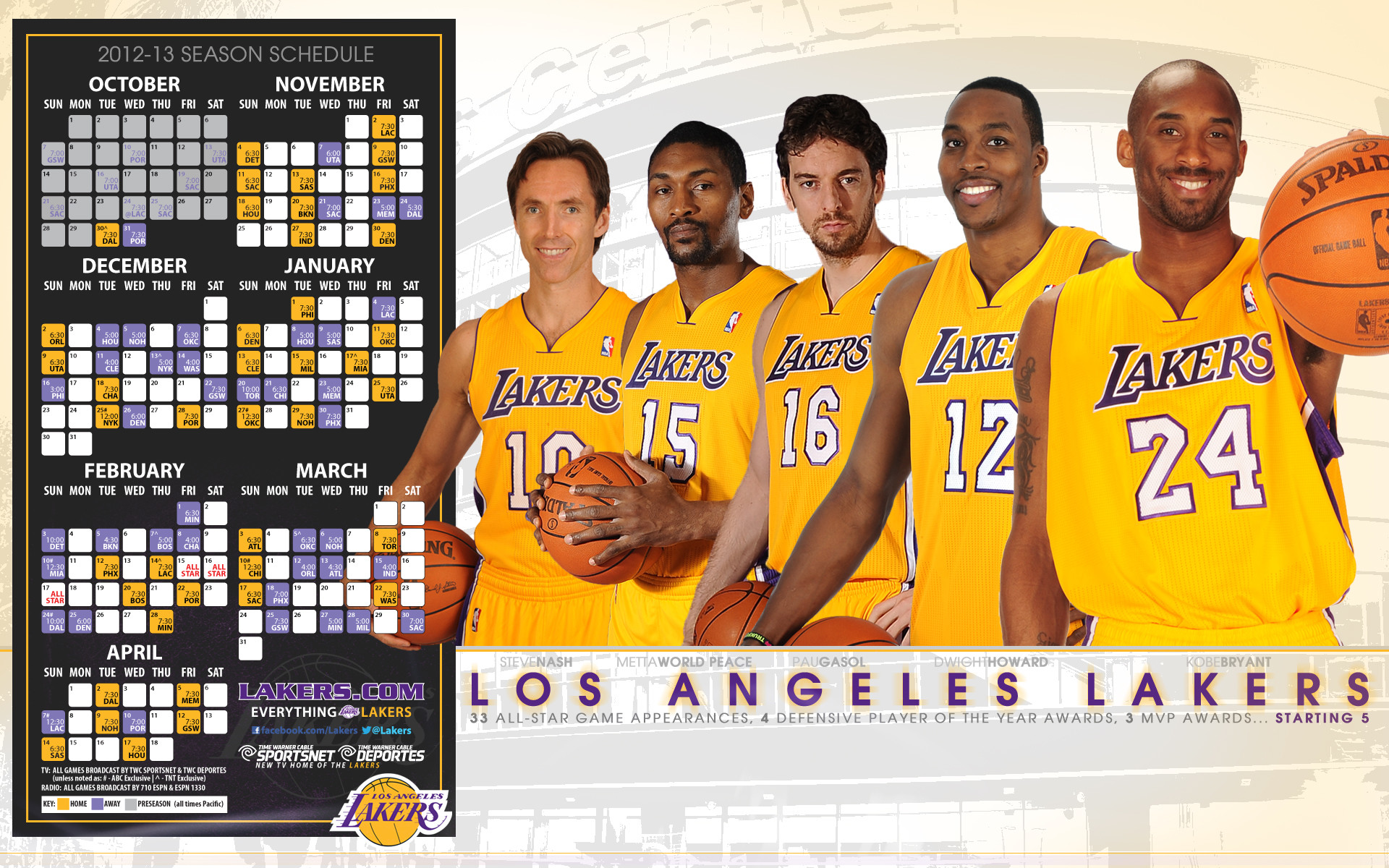 lakers   Lakers Desktop Wallpapers   THE OFFICIAL SITE OF THE LOS ANGELES .