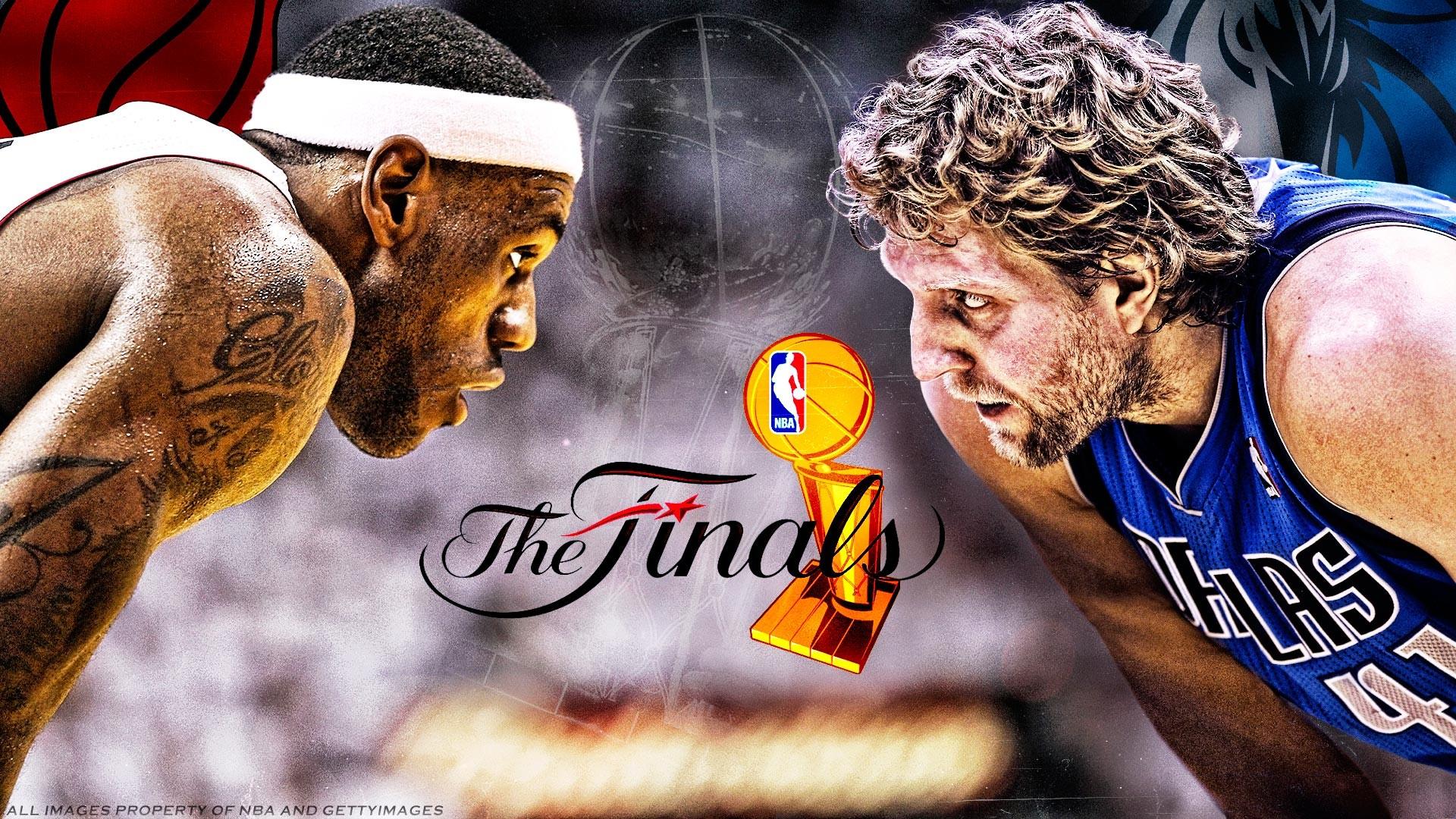 2011 NBA Finals Heat Mavs Widescreen Wallpaper