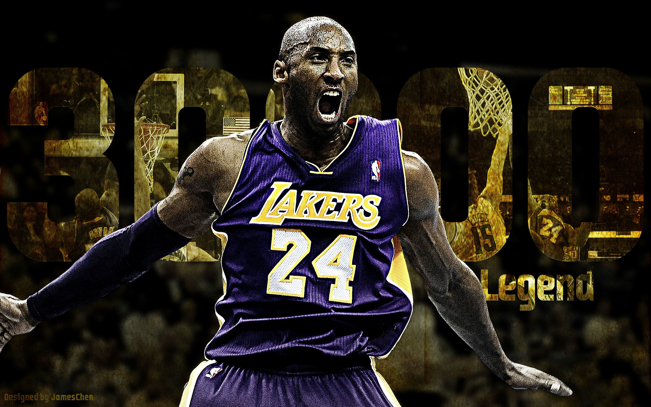 In a career full of incredible achievements, Los Angeles Lakers guard Kobe  Bryant reached his
