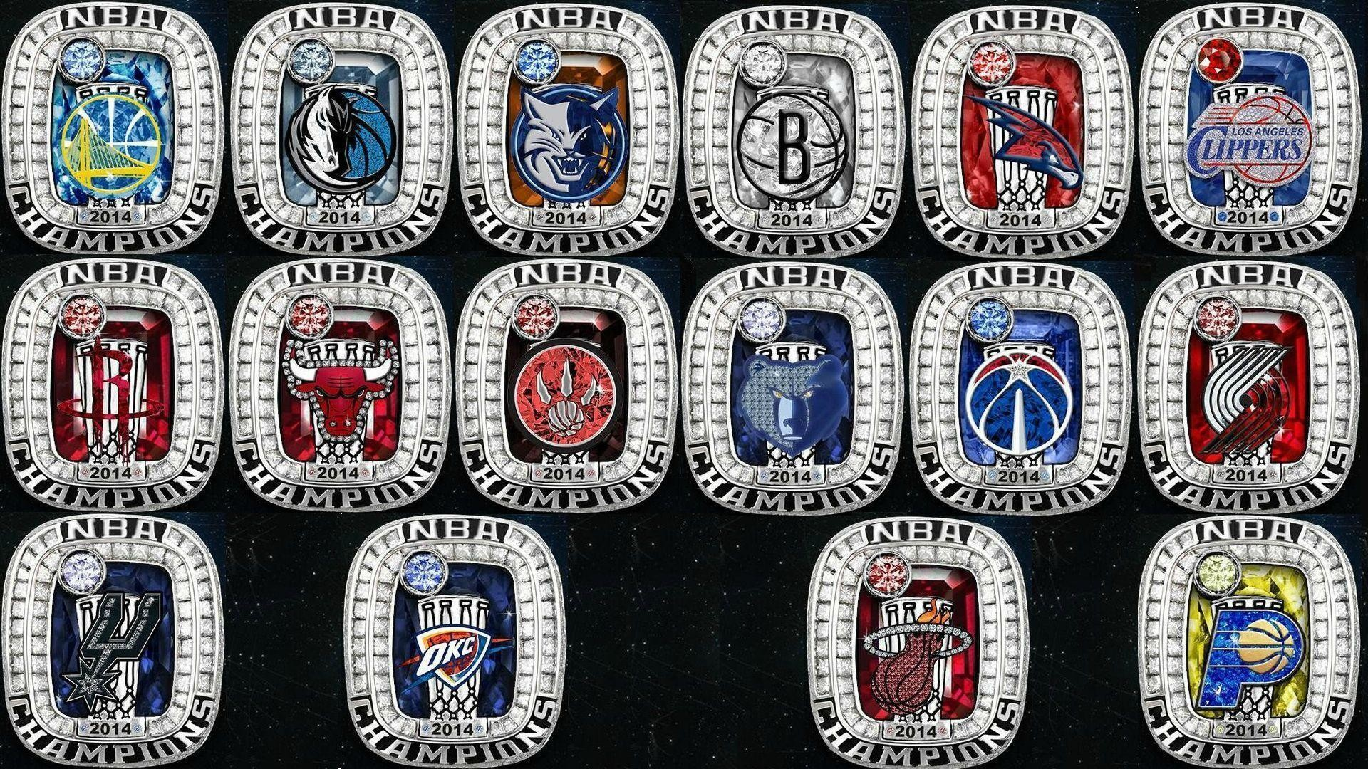 The NBA tweeted out 2014 championship rings for each team : nba