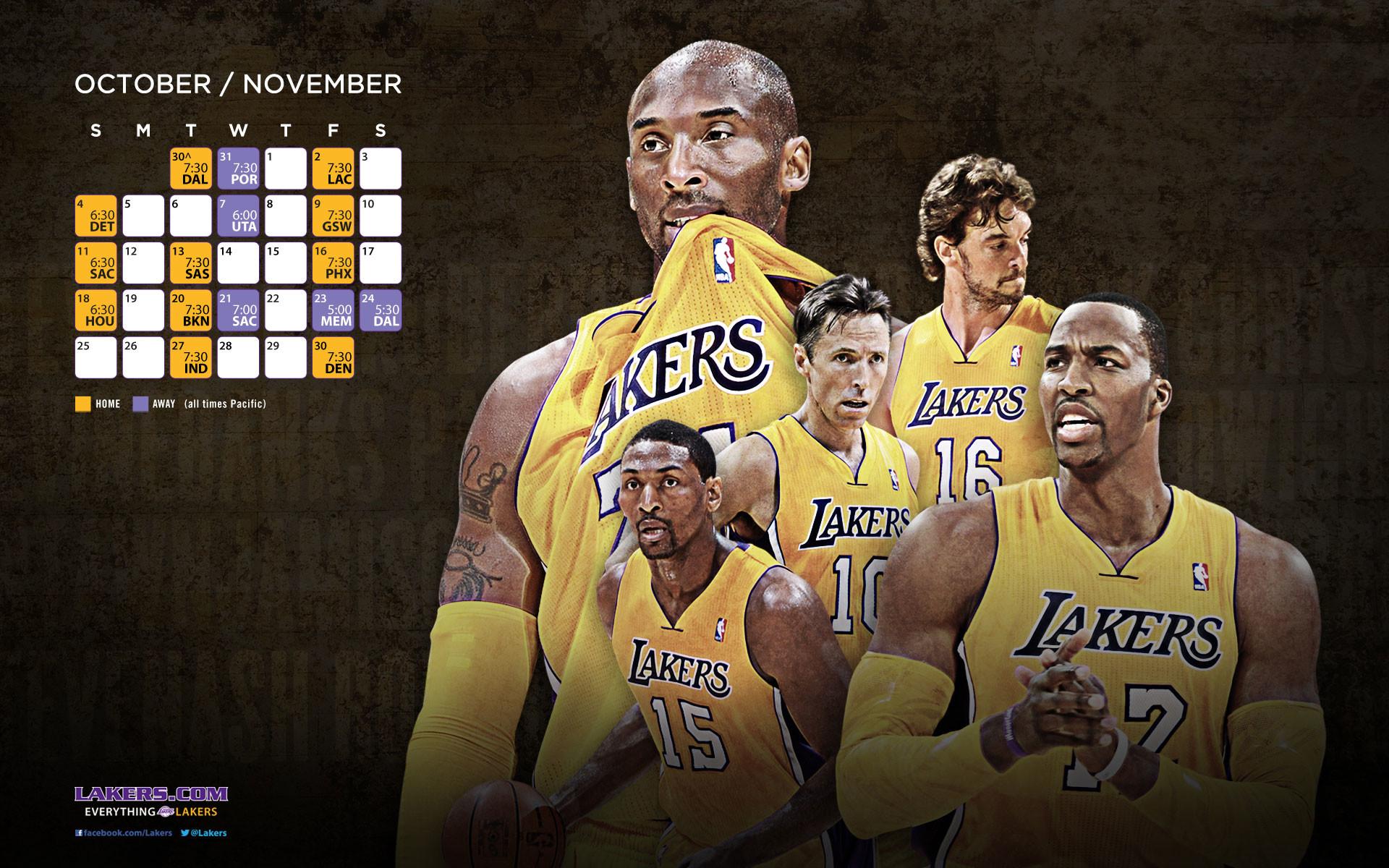 NBA LA Lakers Roster HD Wallpapers in HD