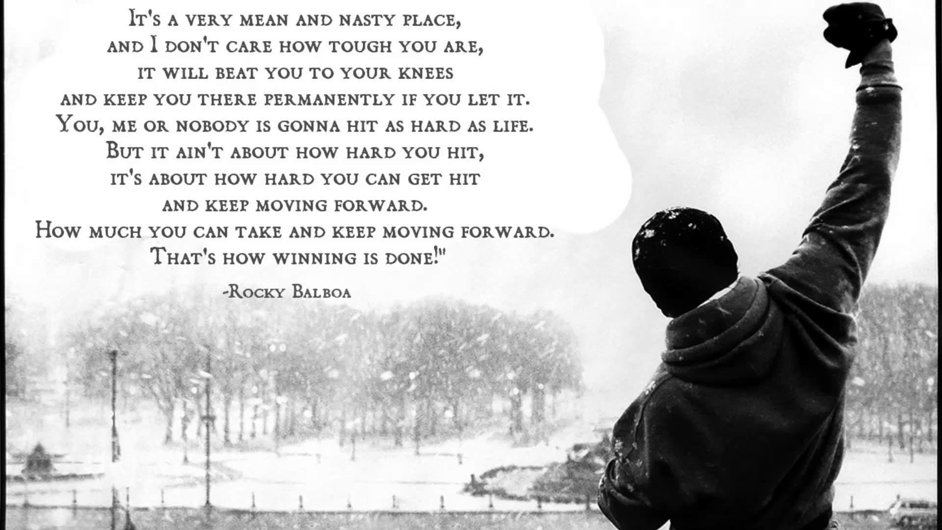 Movie – Rocky Rocky Balboa Motivational Quote Rocky (Movie) Wallpaper