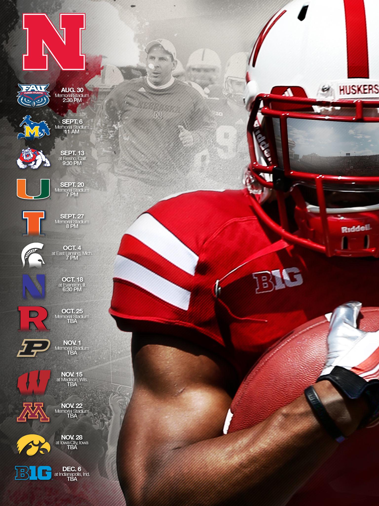 2014 Nebraska Football Wallpapers