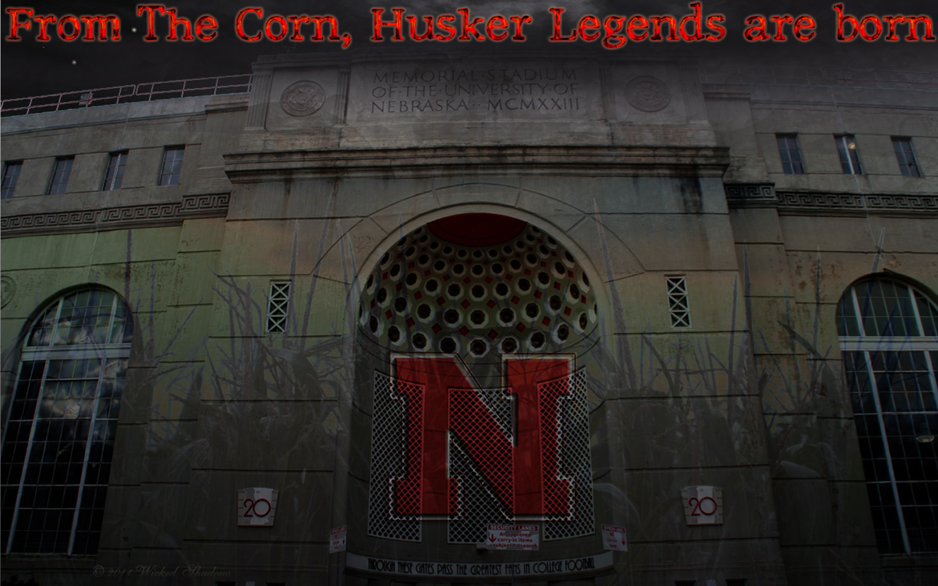 memorial, stadium, nebraska, cornhuskers, wallpaper, legends .