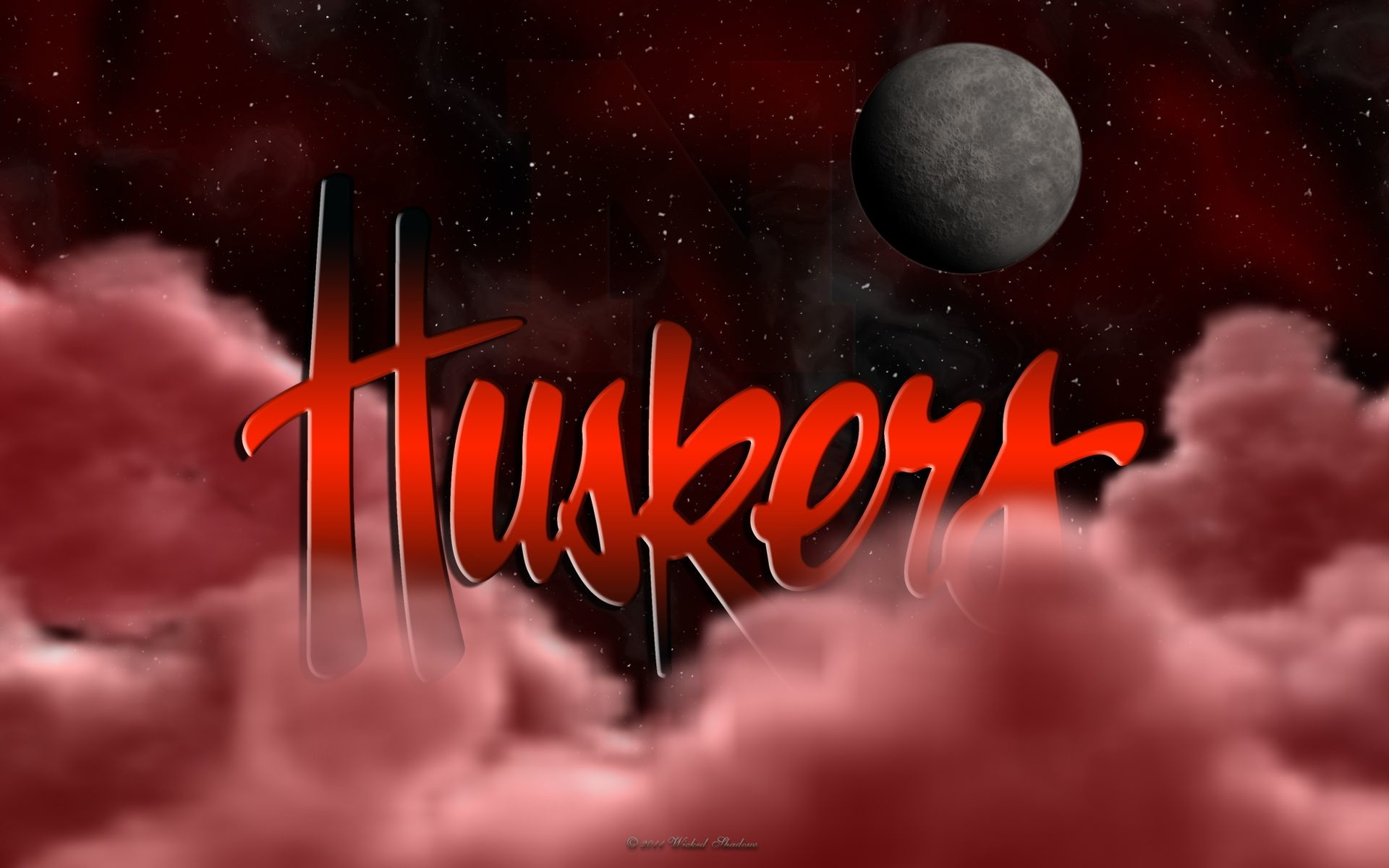 Wallpapers By Wicked Shadows: Huskers Above The Clouds Wallpaper