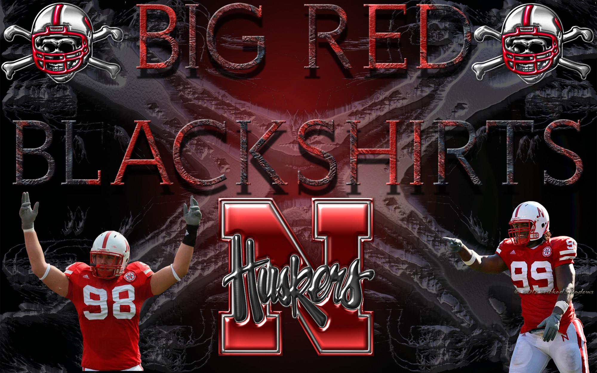 Huskers Big Red Blackshirts Wallpaper