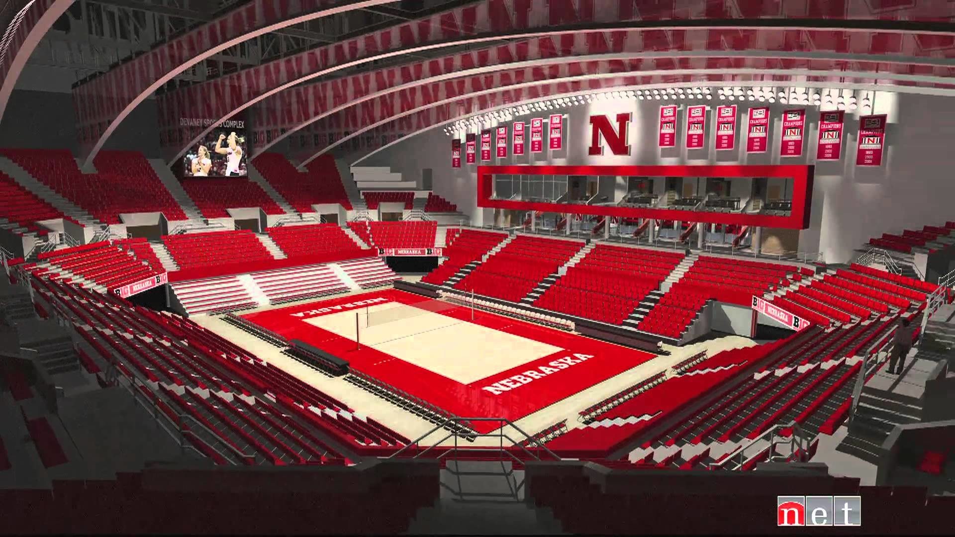 Husker Volleyball and the Devaney Center – An NET Sports Feature – YouTube