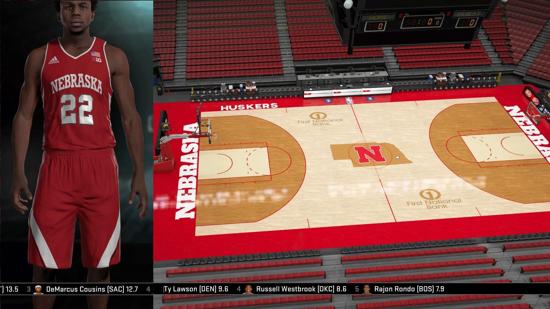Nebraska Cornhuskers Jerseys & Arena Tutorial (NBA 2K16)