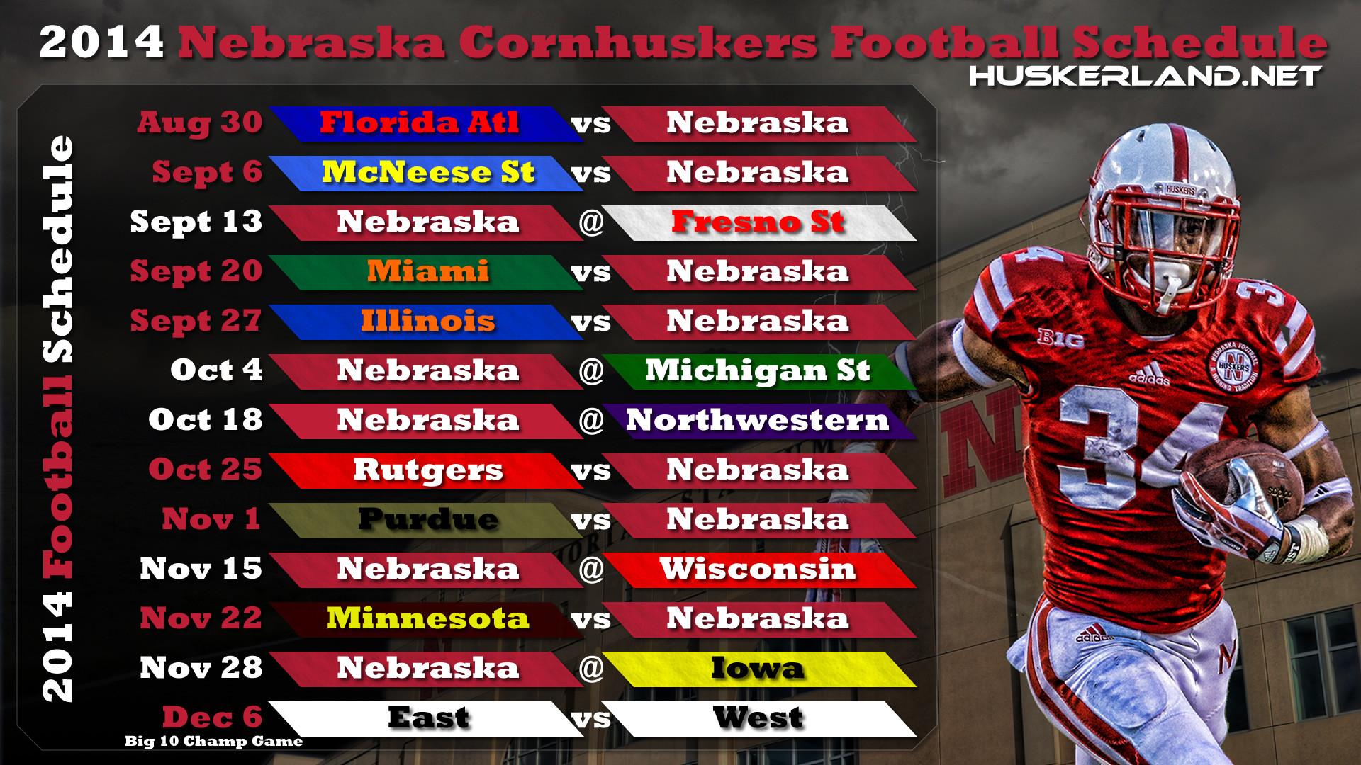 Nebraska huskers 2012 football schedule wallpaper 2   Chainimage