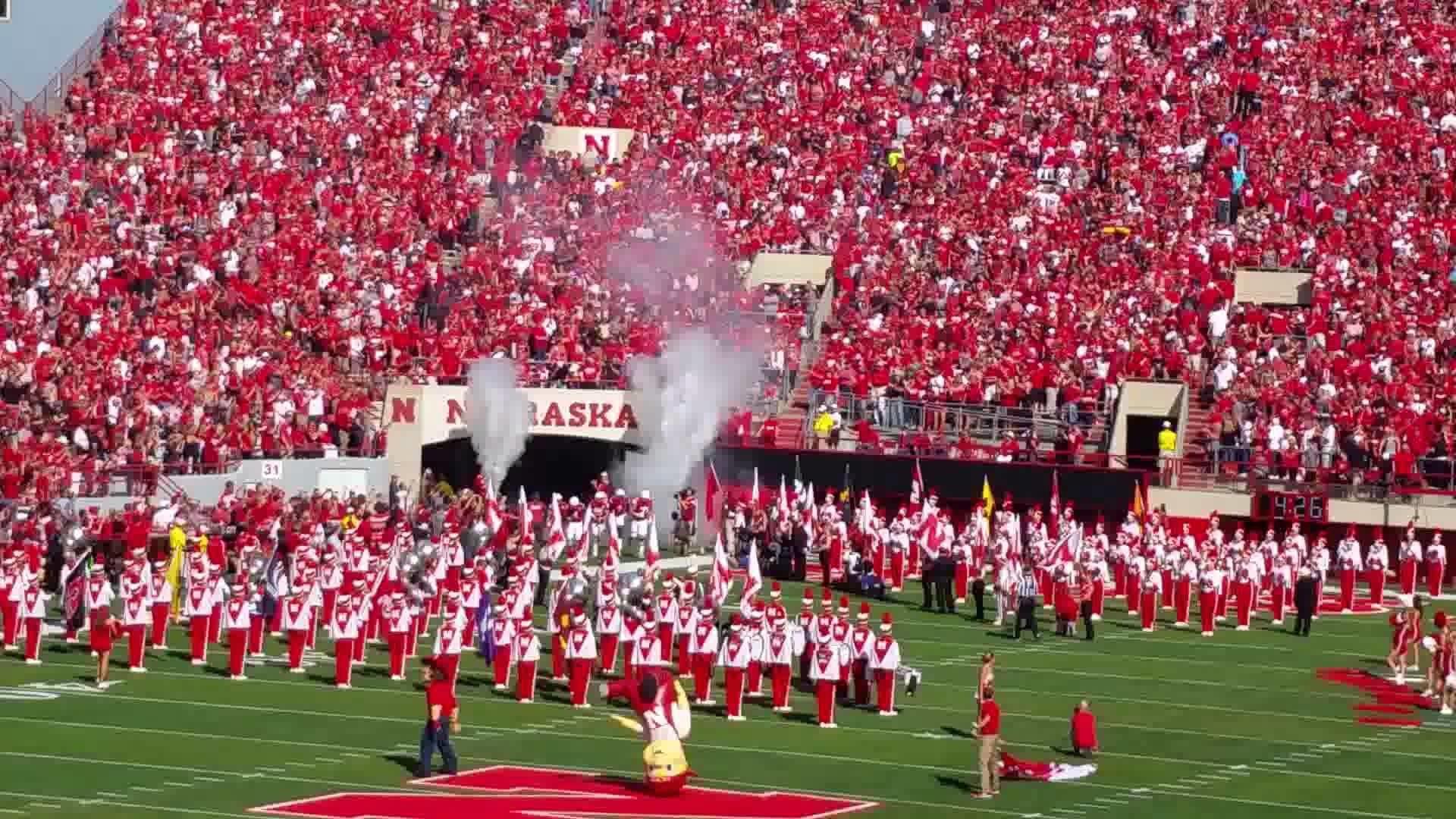 Nebraska Huskers football entrance 2015