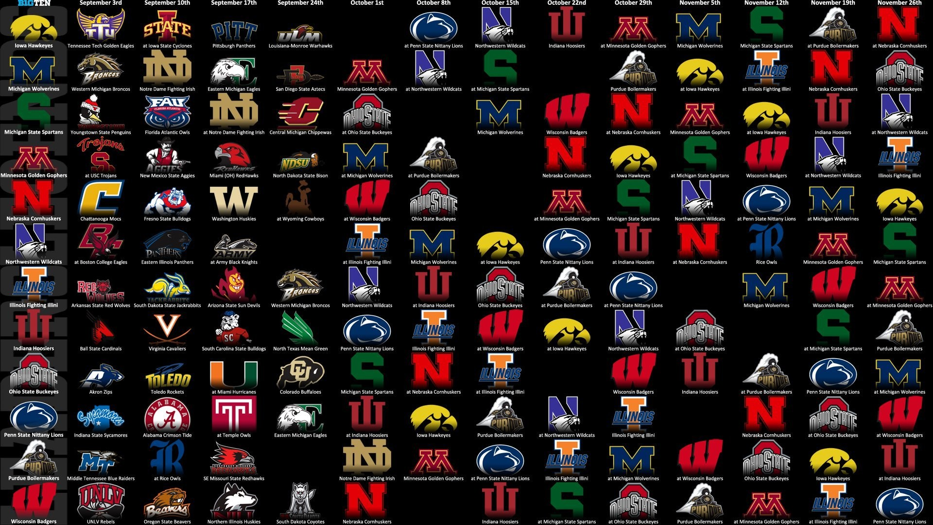 Nebraska Football Schedule 2013