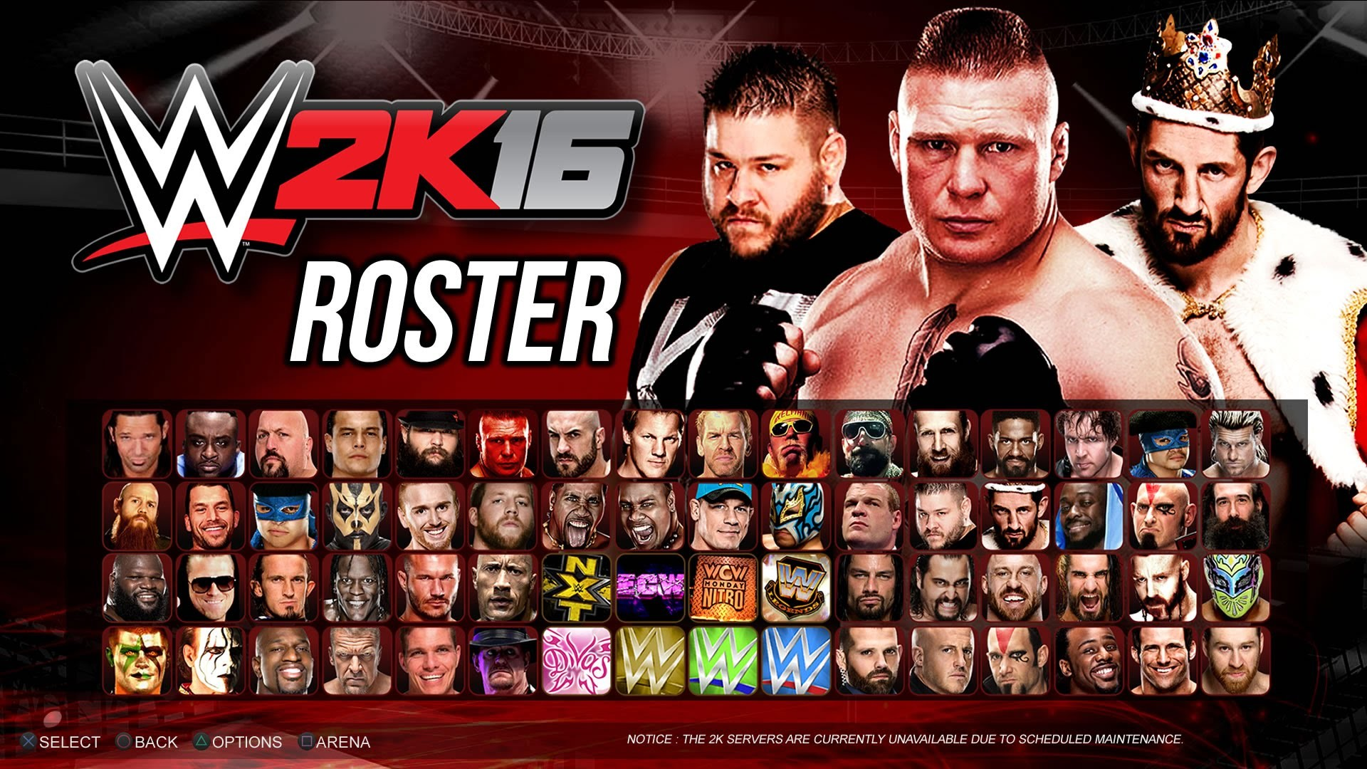 WWE 2K16 Roster – Biggest WWE Roster Ever! WCW, ECW, NXT, Divas