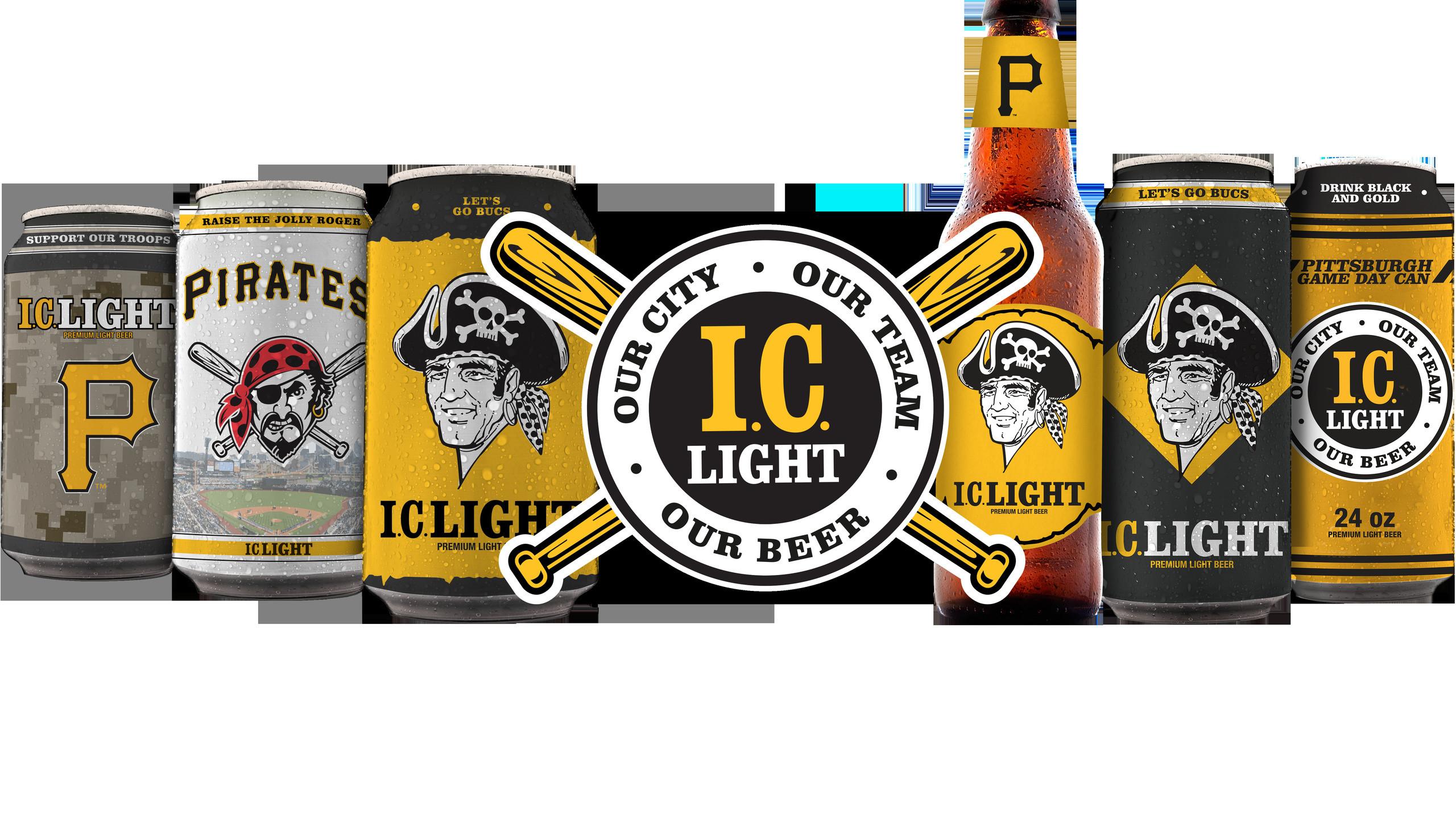 Mlb, Pittsburgh Pirates Logo Beer Cans.png, Beer, Baseball, Sports,