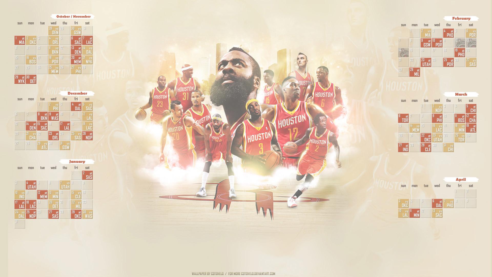Houston Rockets Schedule 2015-2016 Wallpaper