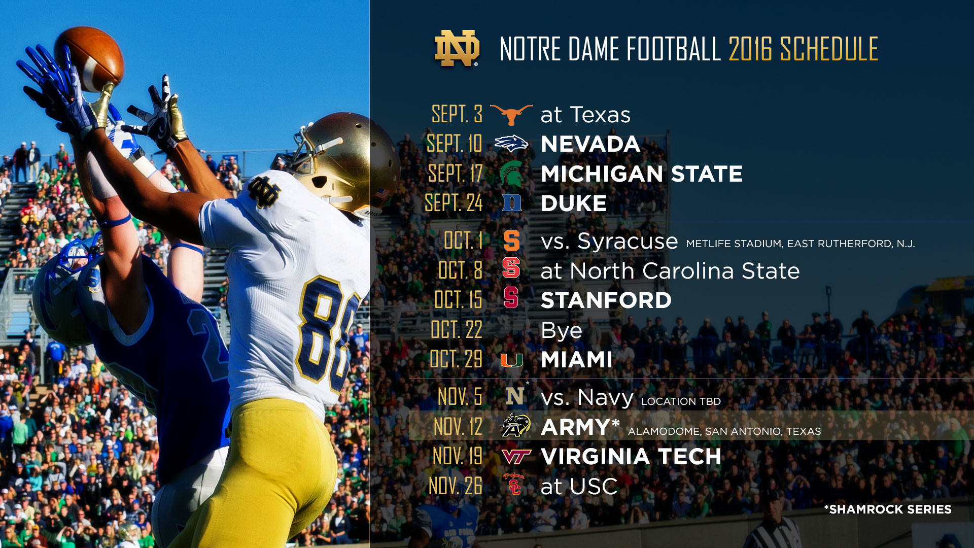 THE 2016 FOOTBALL SCHEDULE