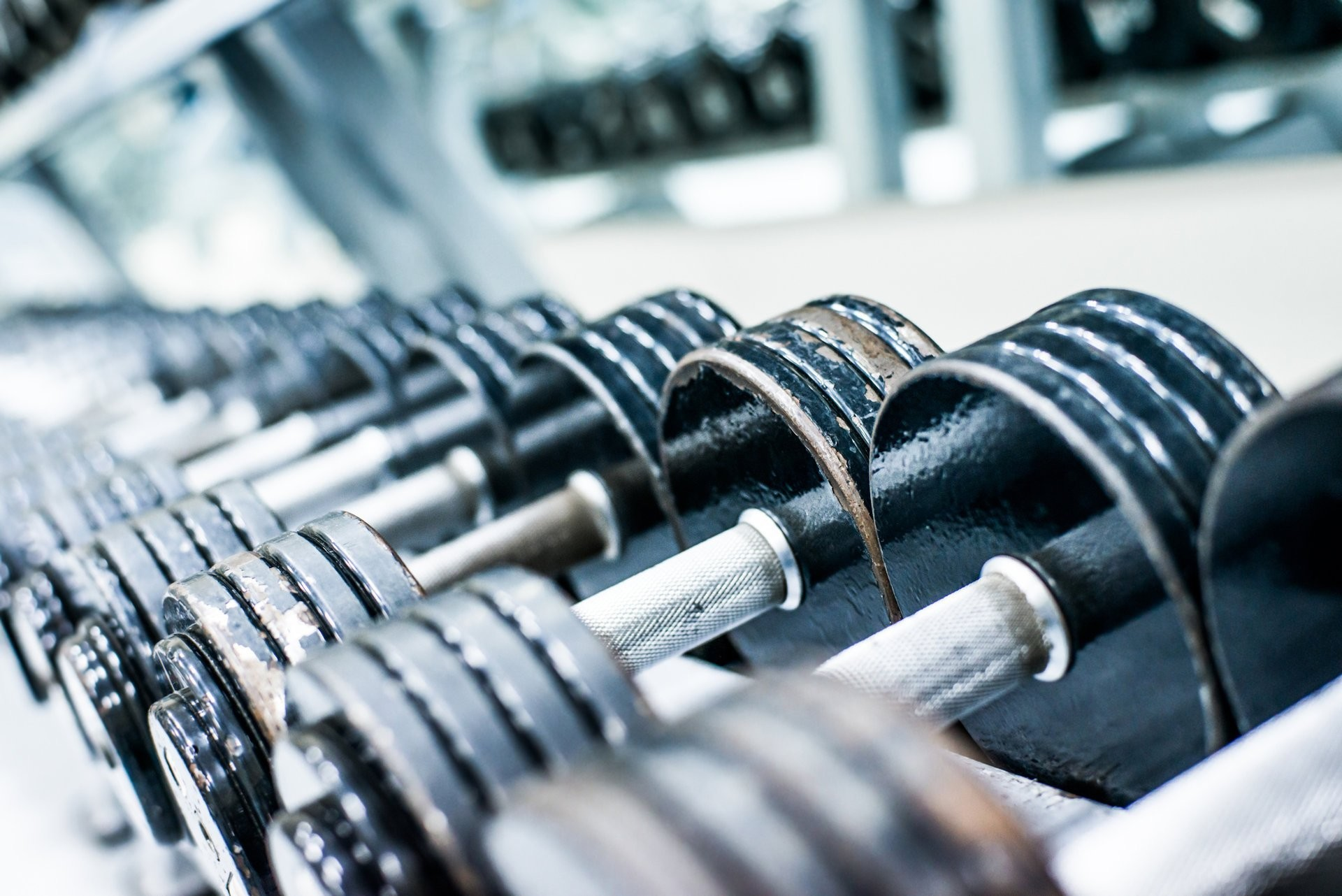 dumbbells gym metal