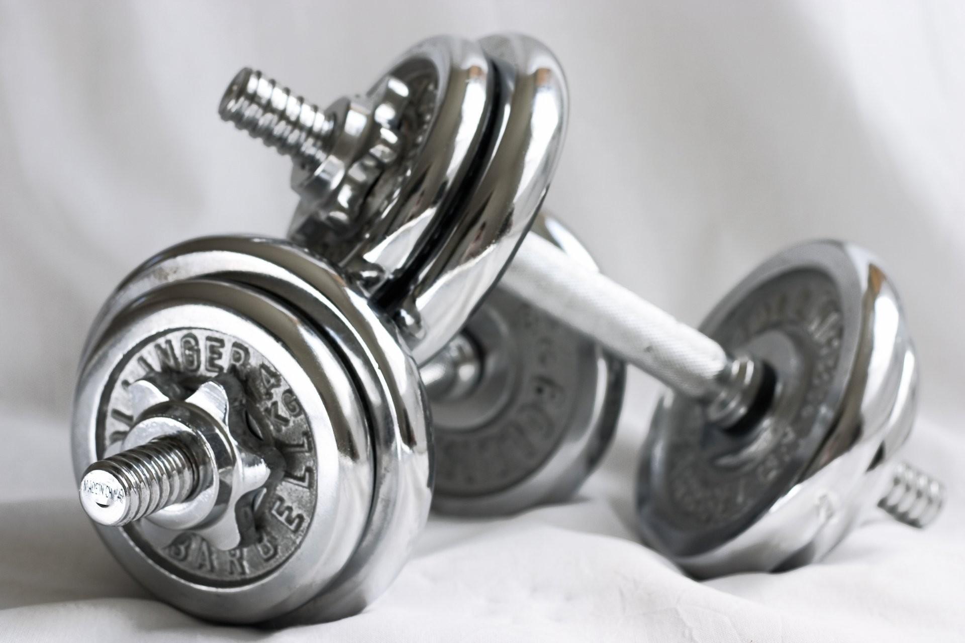 metal dumbbell fitness gym