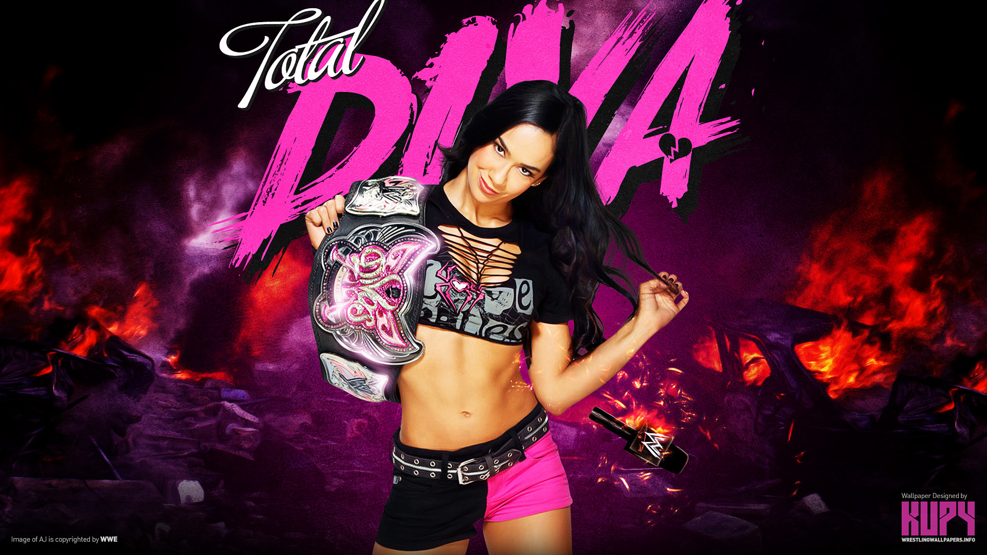 AJ Lee Divas Champion Wallpaper   Aj Lee Divas Champion wallpaper