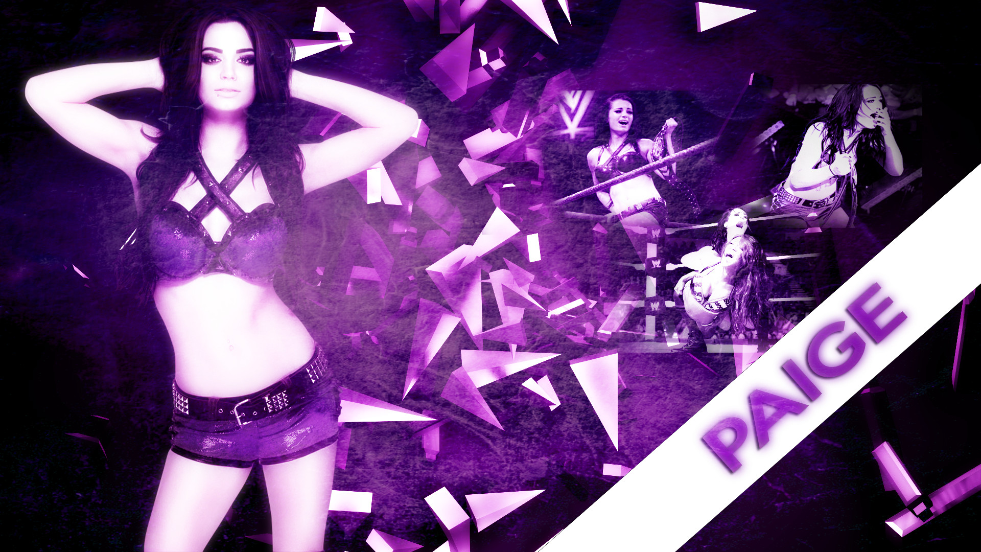 WWE – Divas Champion Paige – Custom Wallpaper by xpoisoneddivax on .