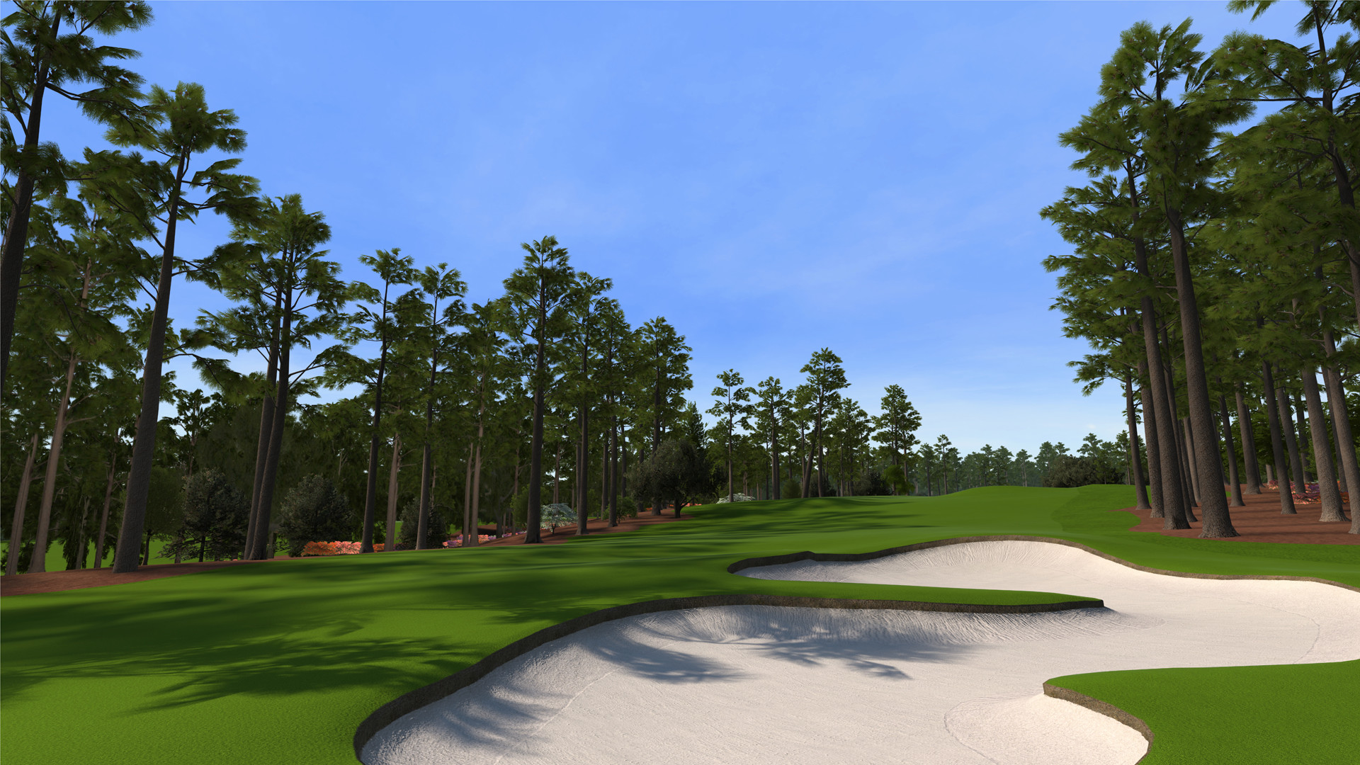 """8 at Augusta National as seen in the PS3 and XBox 360 versions of """"Tiger  Woods 12: The Masters."""""""
