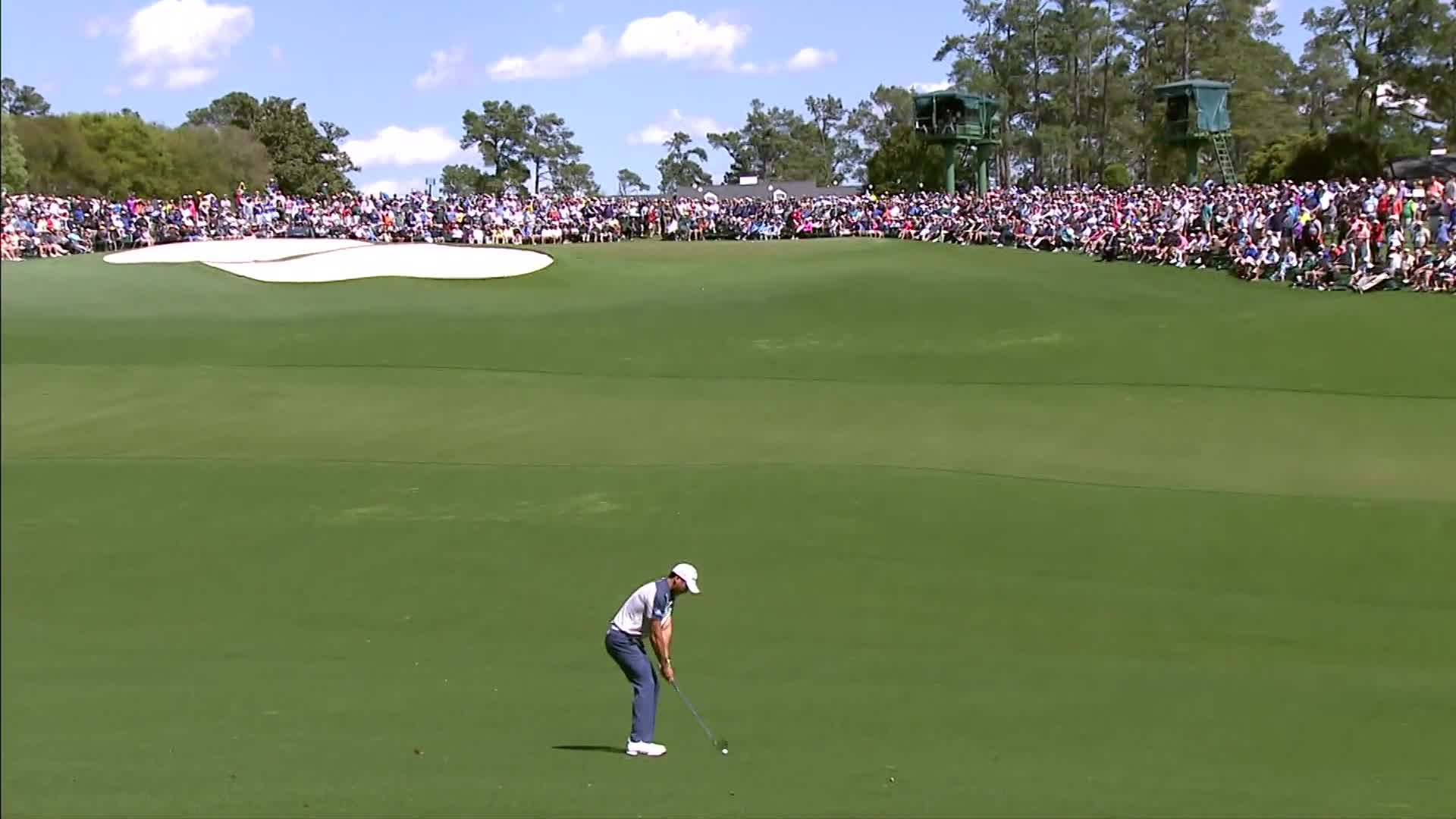 Watch a selection of the best shots from the opening round Masters
