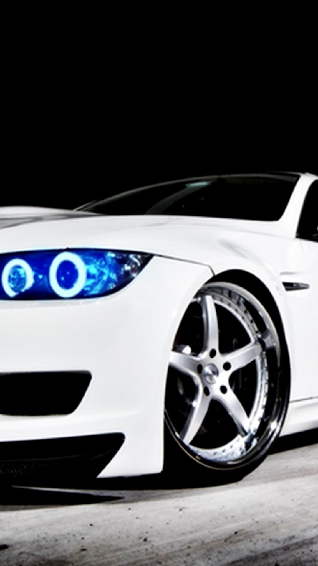 BMW M3 White Blue Headlights iPhone 6 Plus HD Wallpaper