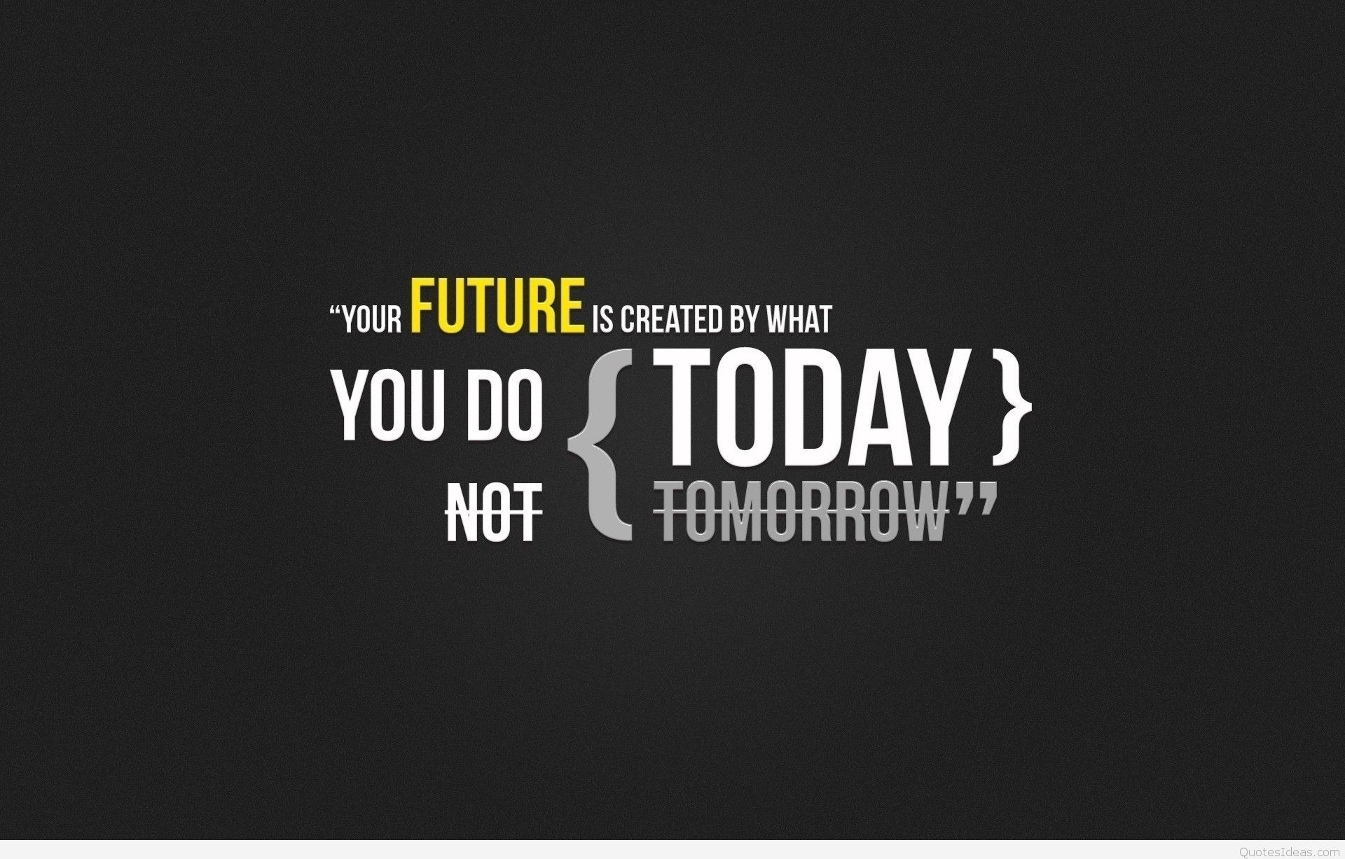 Future fitness quote with background 2016