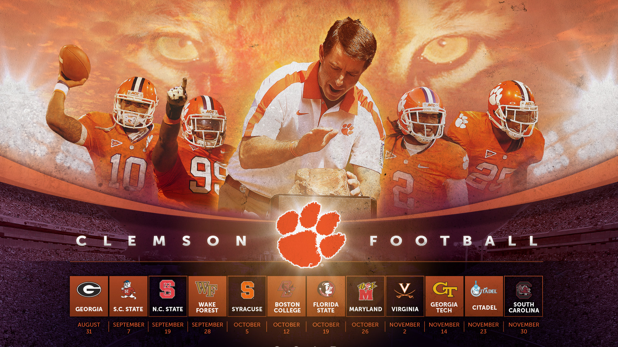 Clemson Tigers Backgrounds Free Download.