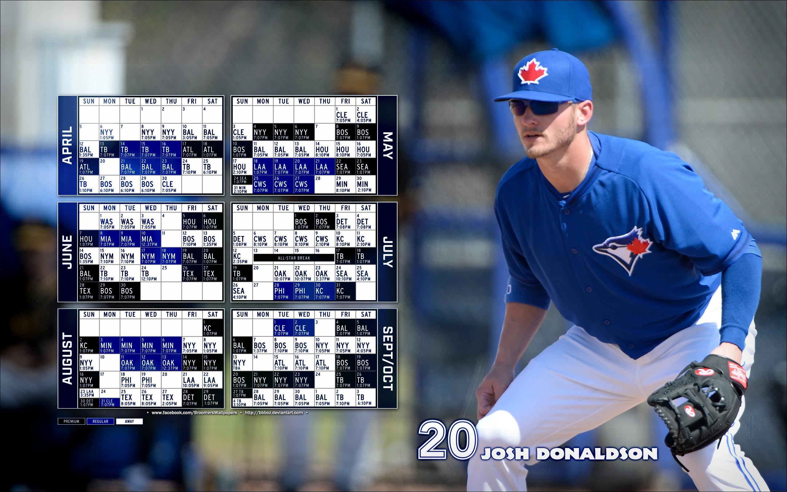 … 2015 Toronto Blue Jays schedule Wallpaper by bbboz