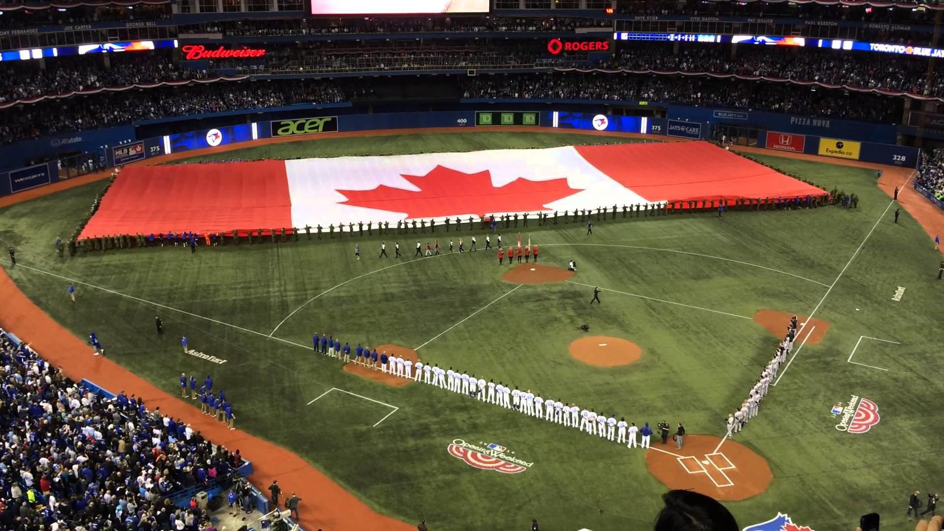 2014-04-04 Toronto Blue Jays Home Opener National Anthem + Roy Halladay –  YouTube