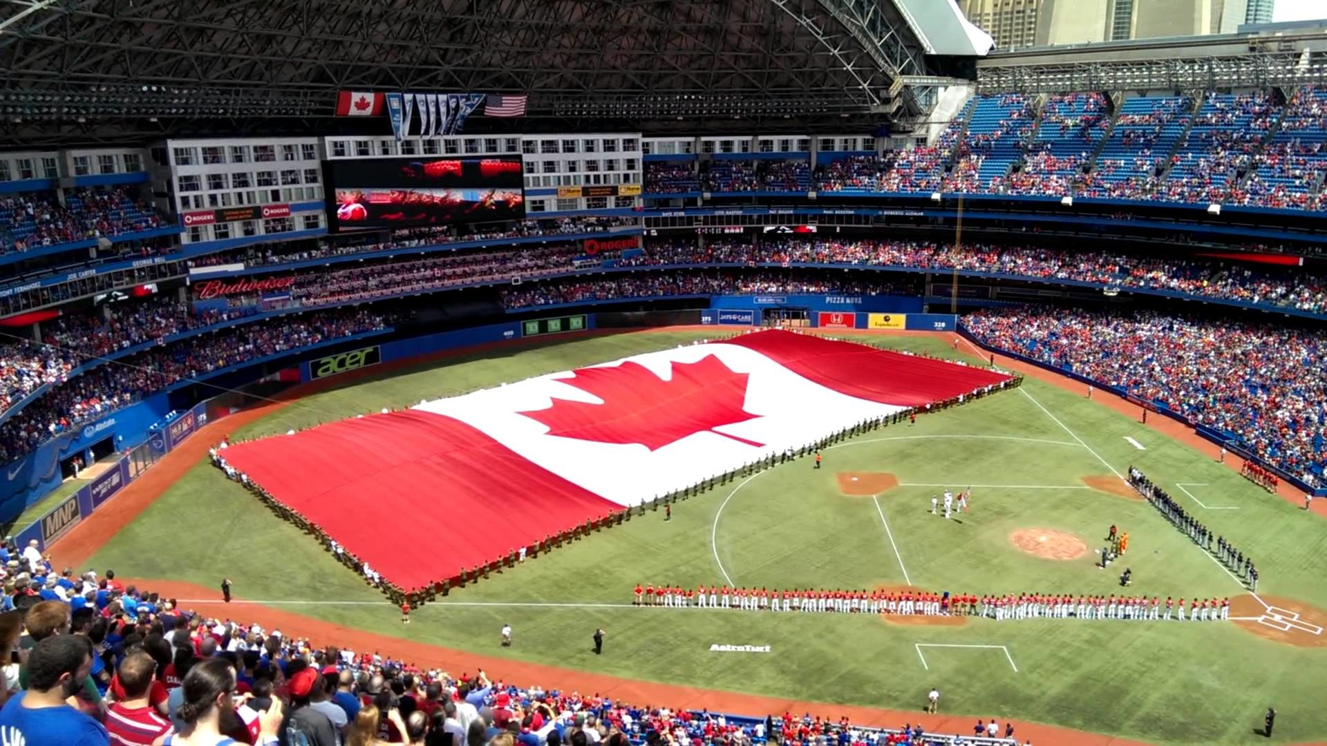 O Canada, from the Blue Jays game July 1 2014