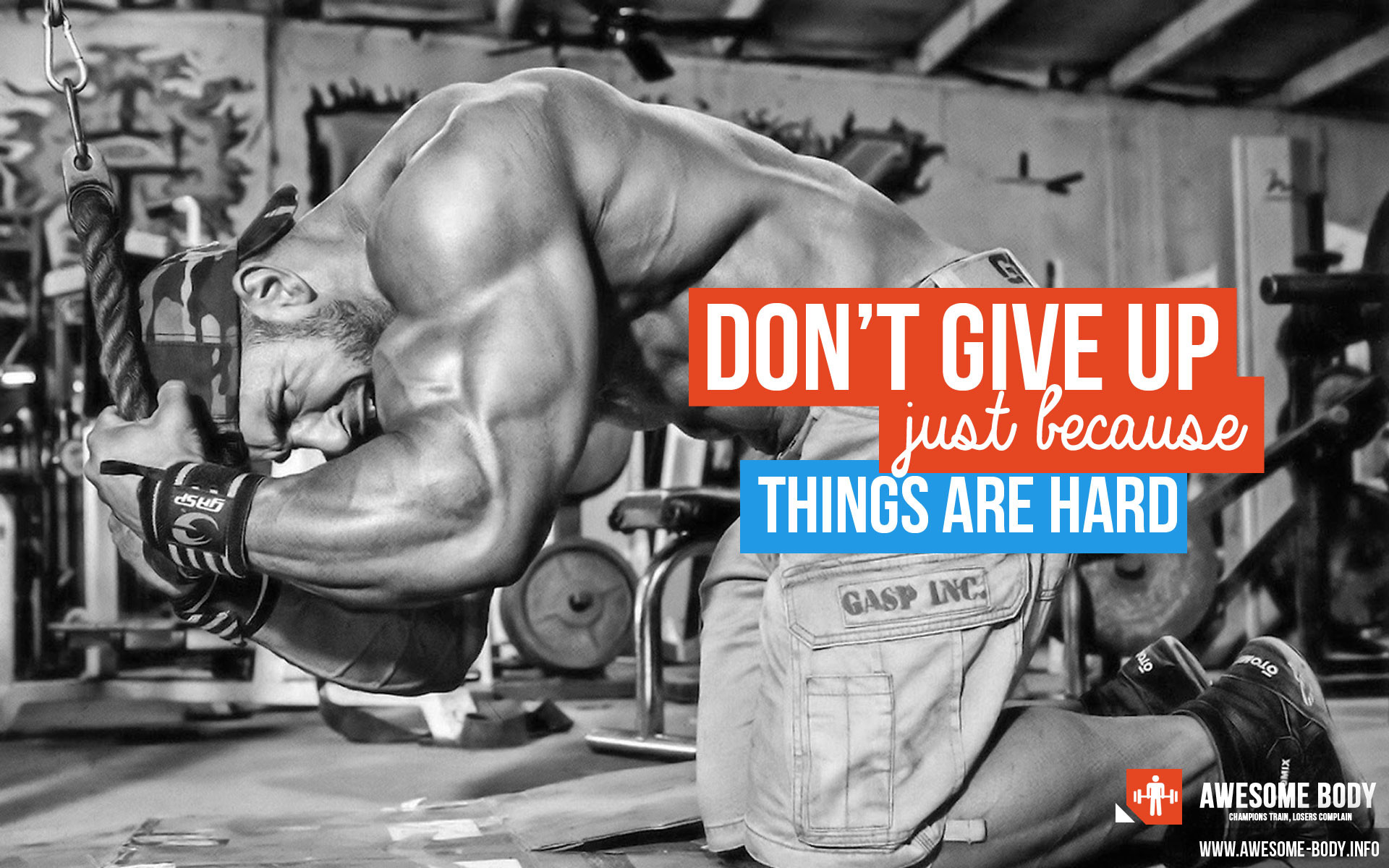 DON`T GIVE UP – JUST BECAUSE THINGS ARE HARD! Hard Work QuotesWork  MotivationBodybuilding …