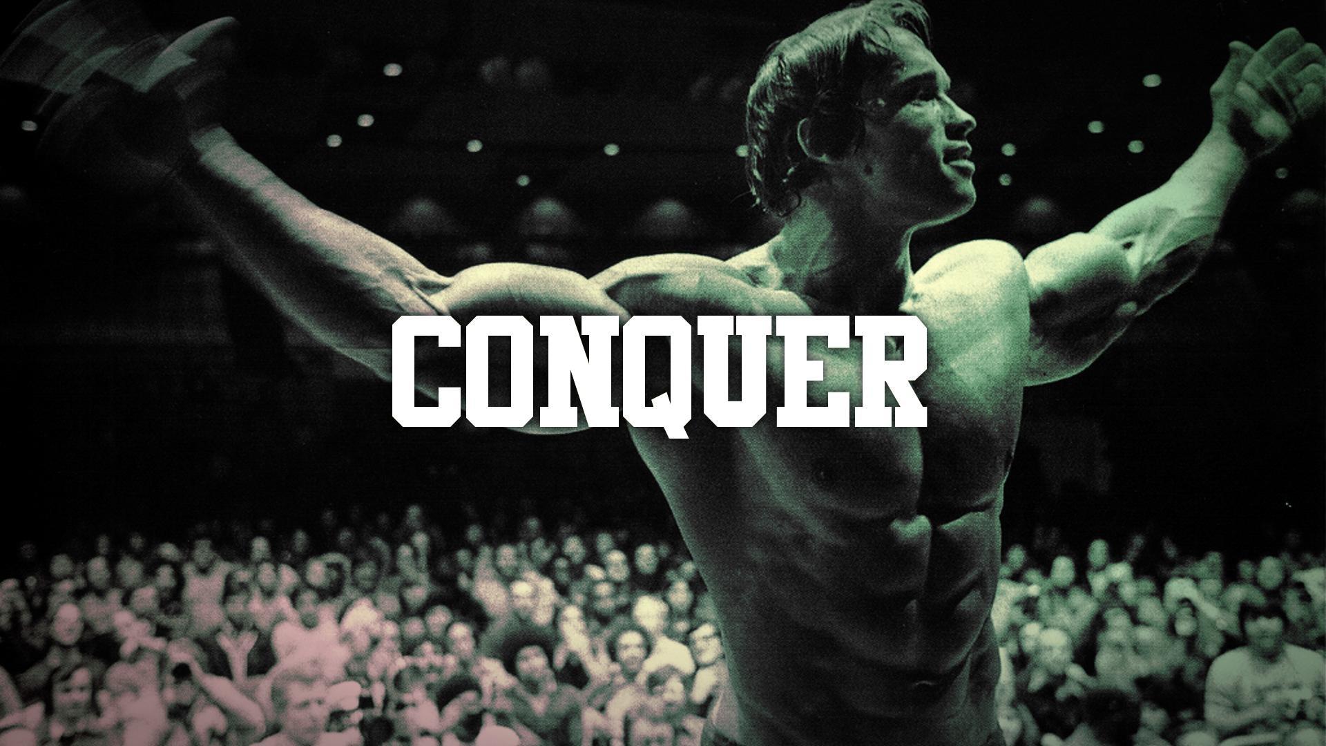 Arnold Schwarzenegger Conquer Muscle Bodybuilding wallpaper
