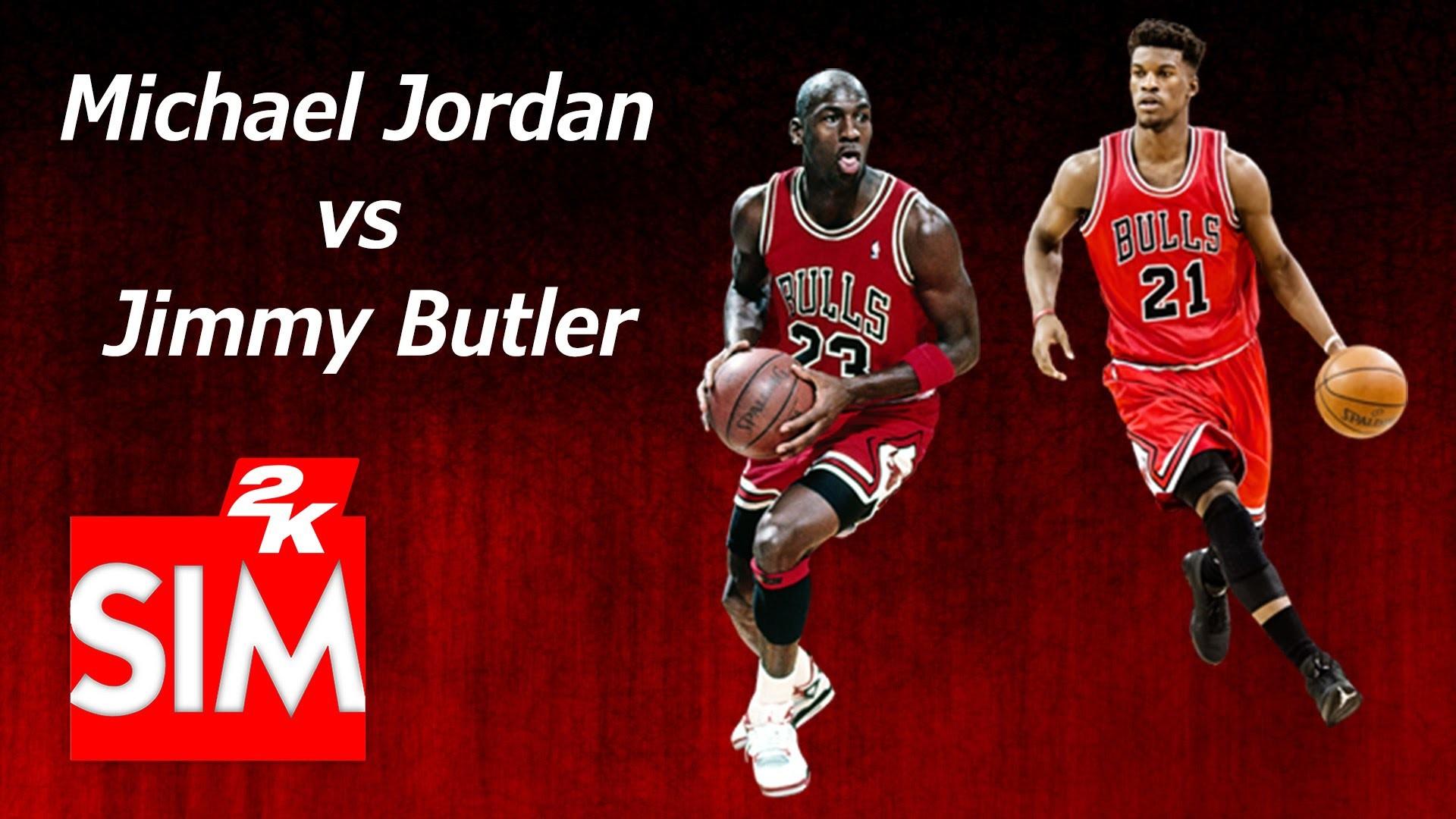 Michael Jordan vs Jimmy Butler – Blacktop 1 on 1 (NBA 2K16)
