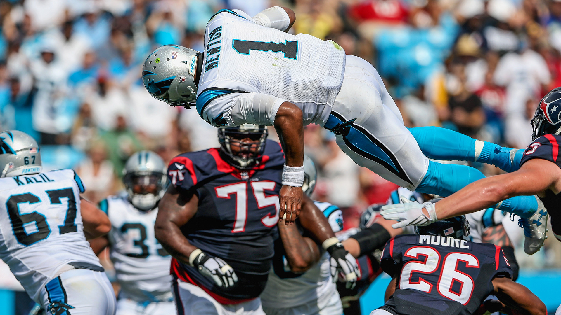 """Cam Newton dominated the league with 45 touchdowns, his dangerous run-game,  and laser throws. He turned a group of """"no-name"""" receivers into a  juggernaut."""