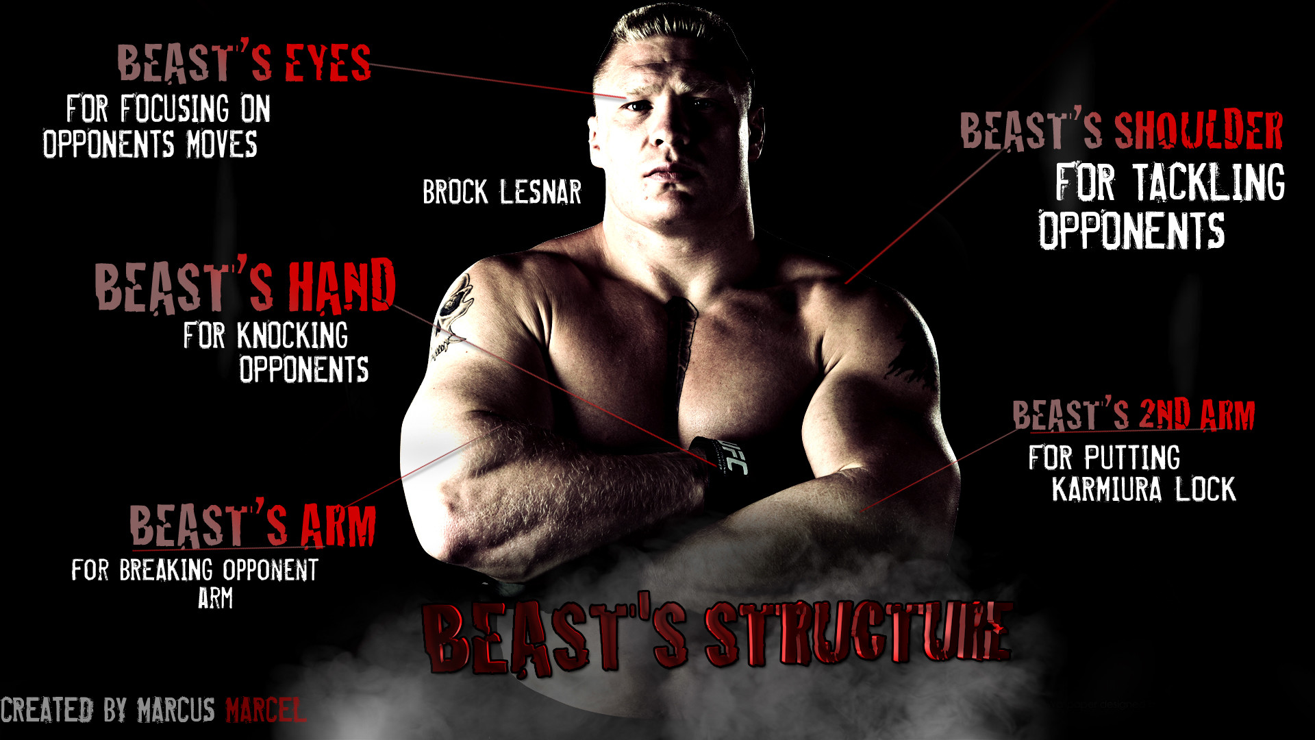 … Brock Lesnar – The Beast Structure by MarcusMarcel