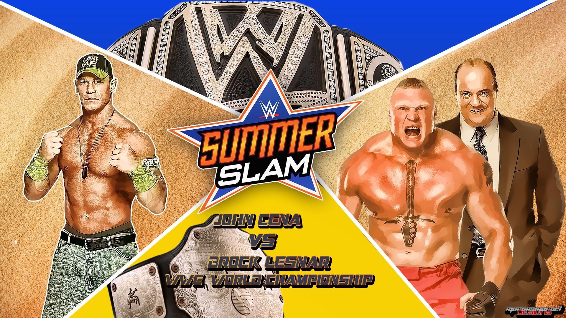 WWE Summerslam 2015 John Cena Vs Brock Lesnar Wallpapers .