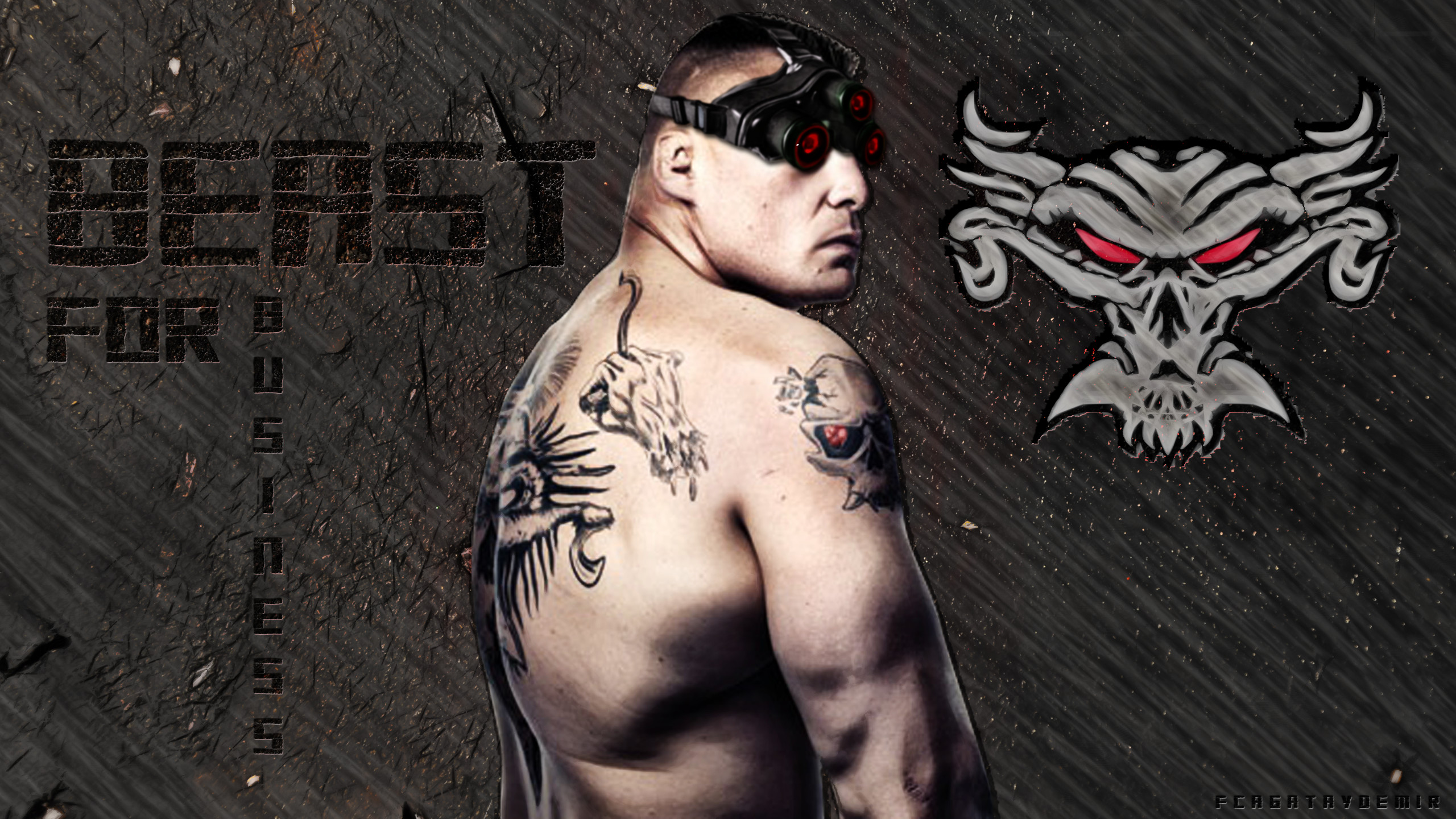 … BEAST For Business – BROCK LESNAR (Exclusive) by CagatayDemir