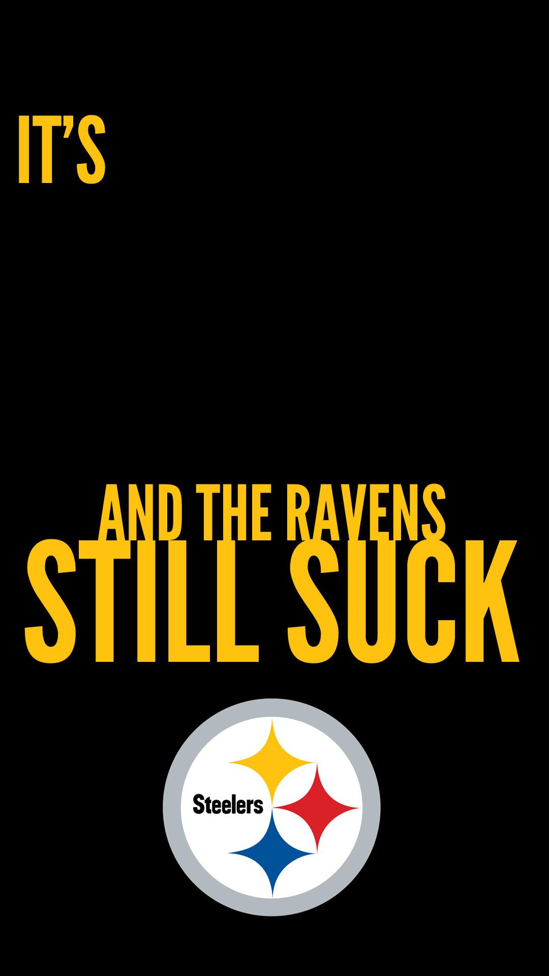 Steelers iPhone 6+ (1920×1080) Black Background