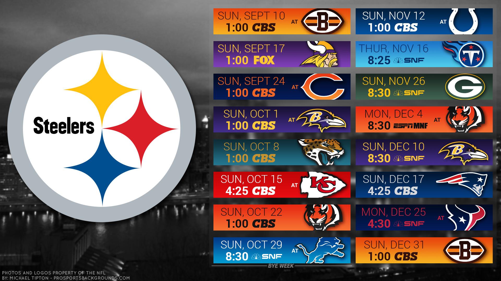 Pittsburgh Steelers 2017 schedule city football logo wallpaper free pc  desktop computer …