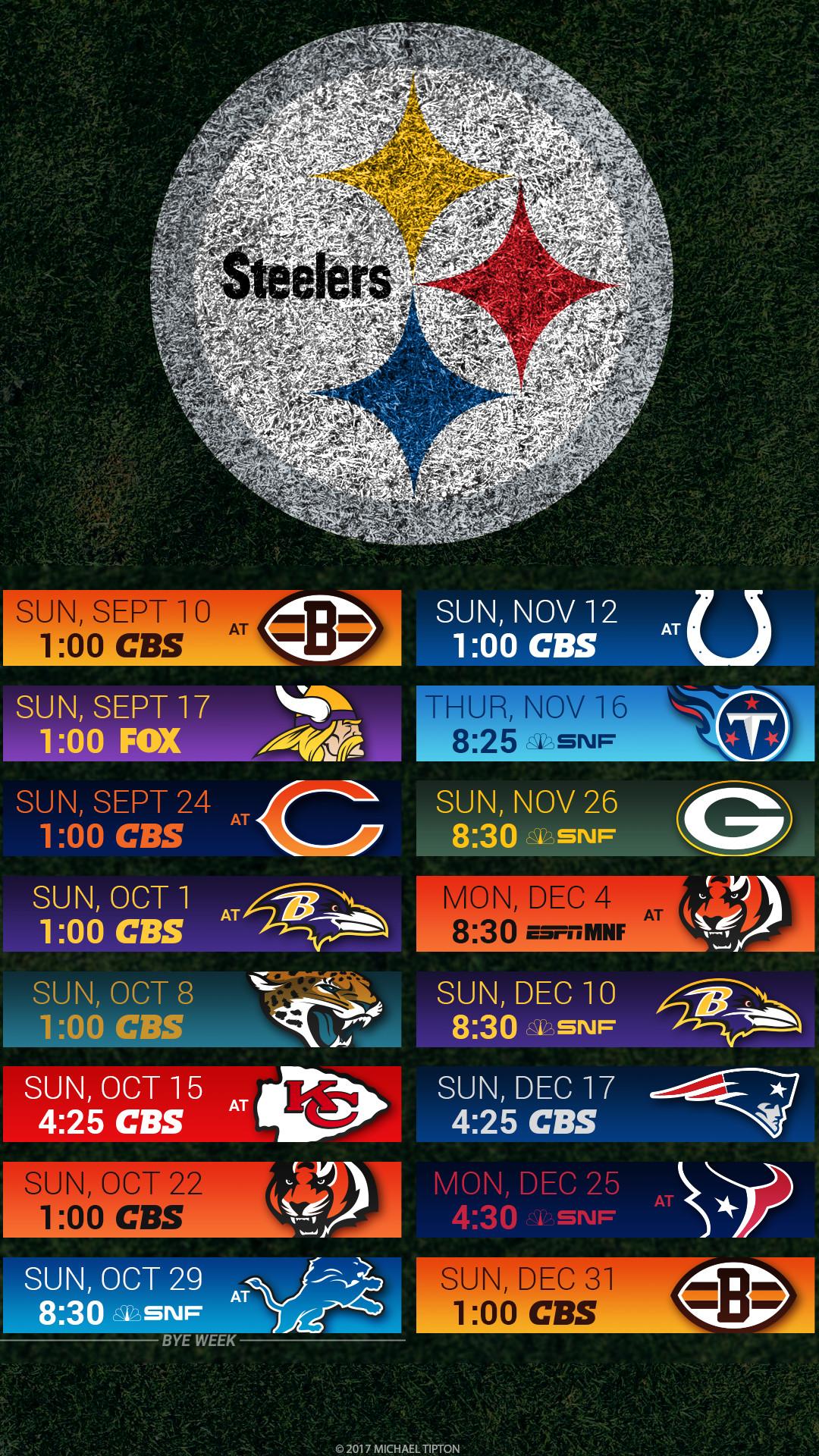 Pittsburgh Steelers 2017 schedule turf logo wallpaper free iphone 5, 6, 7,  …