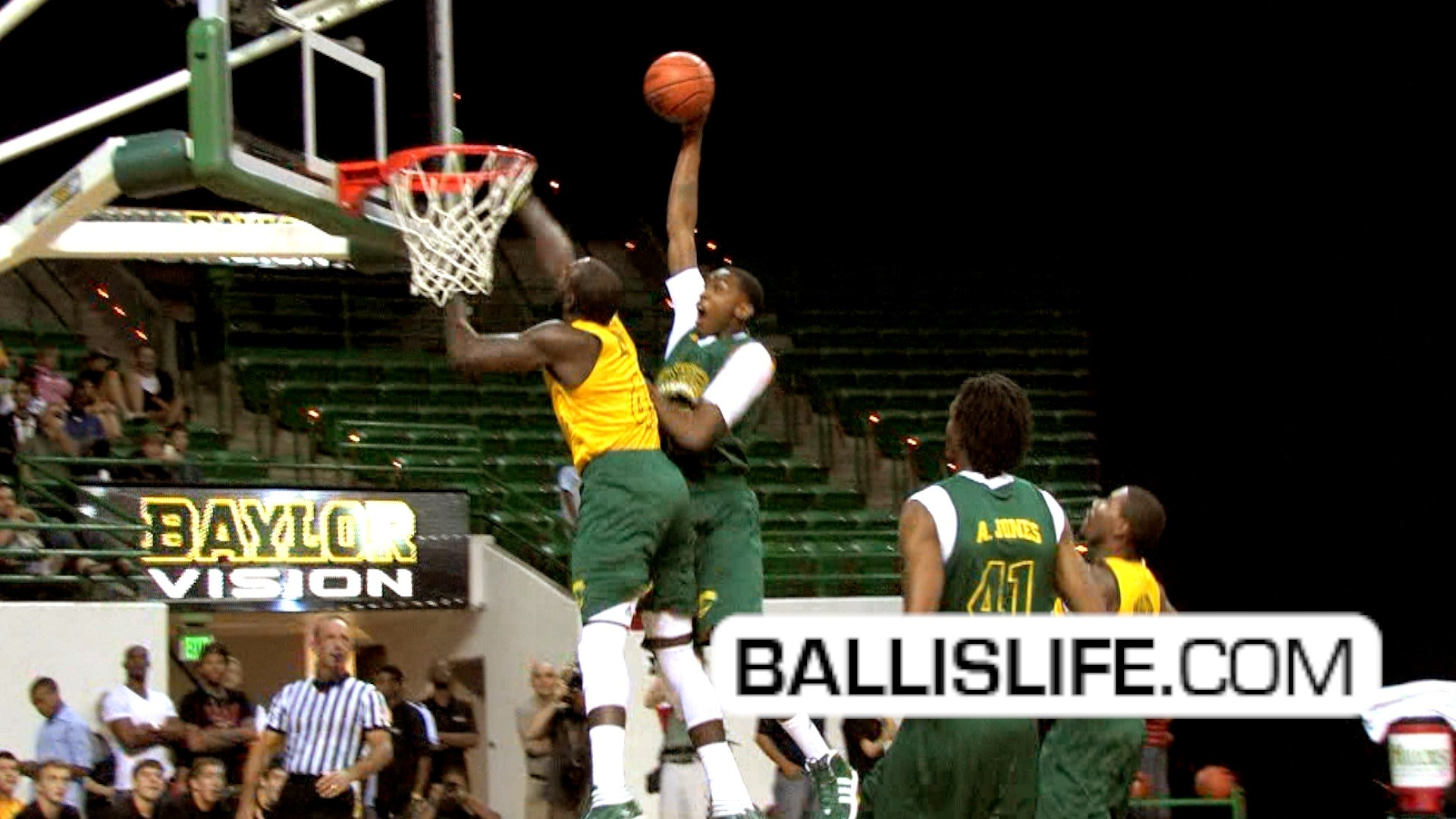 Ballislife   Baylor's Quincy Miller with Poster Dunk