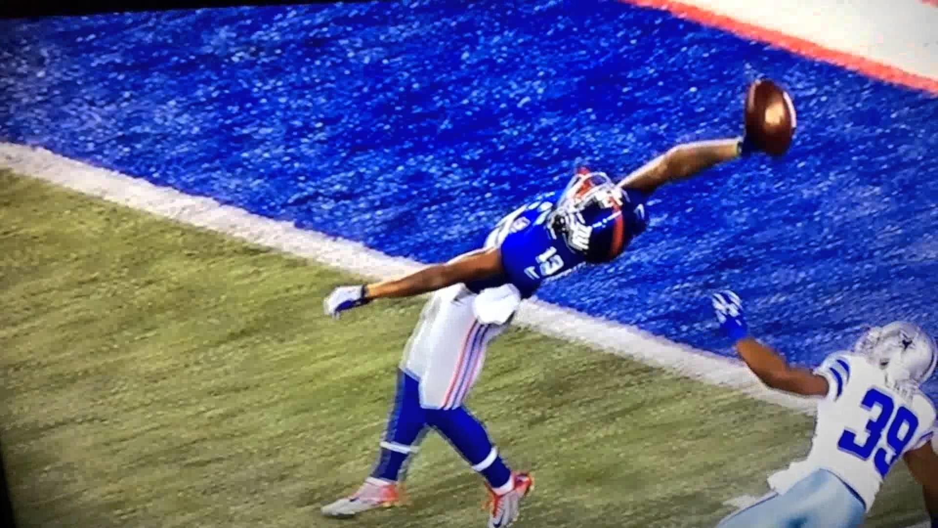 Amazing catch Odell beckham jr. Amazing catch
