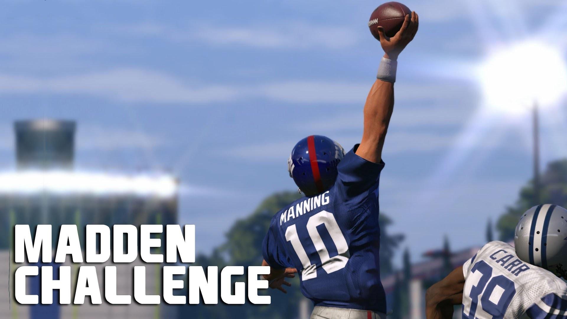 Can Eli Manning Recreate The Odell Beckham Jr Catch? – Madden NFL Challenge  – YouTube