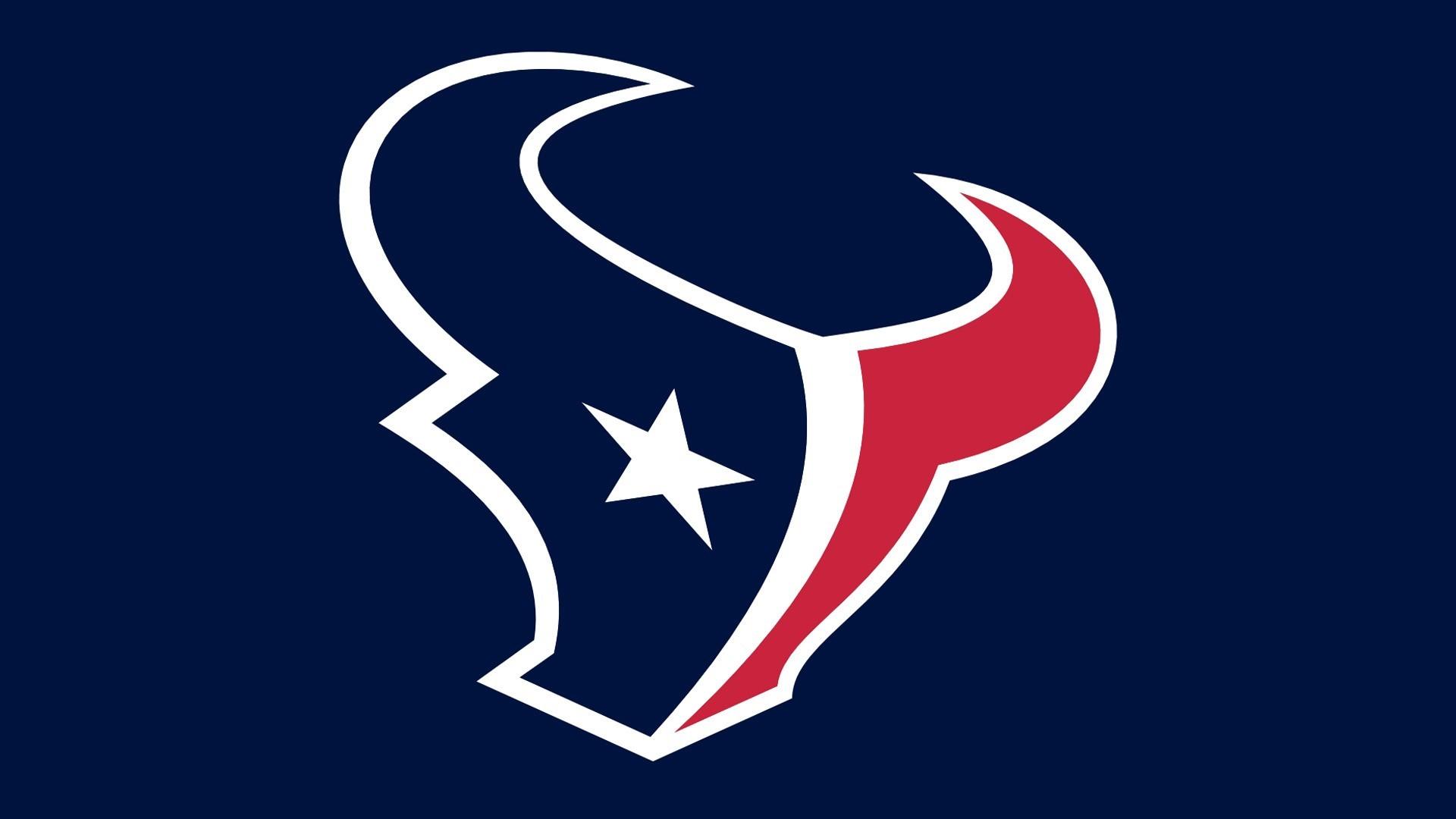 NFL Hoston Texans Blue Back Logo HD NFL / Houston Texans