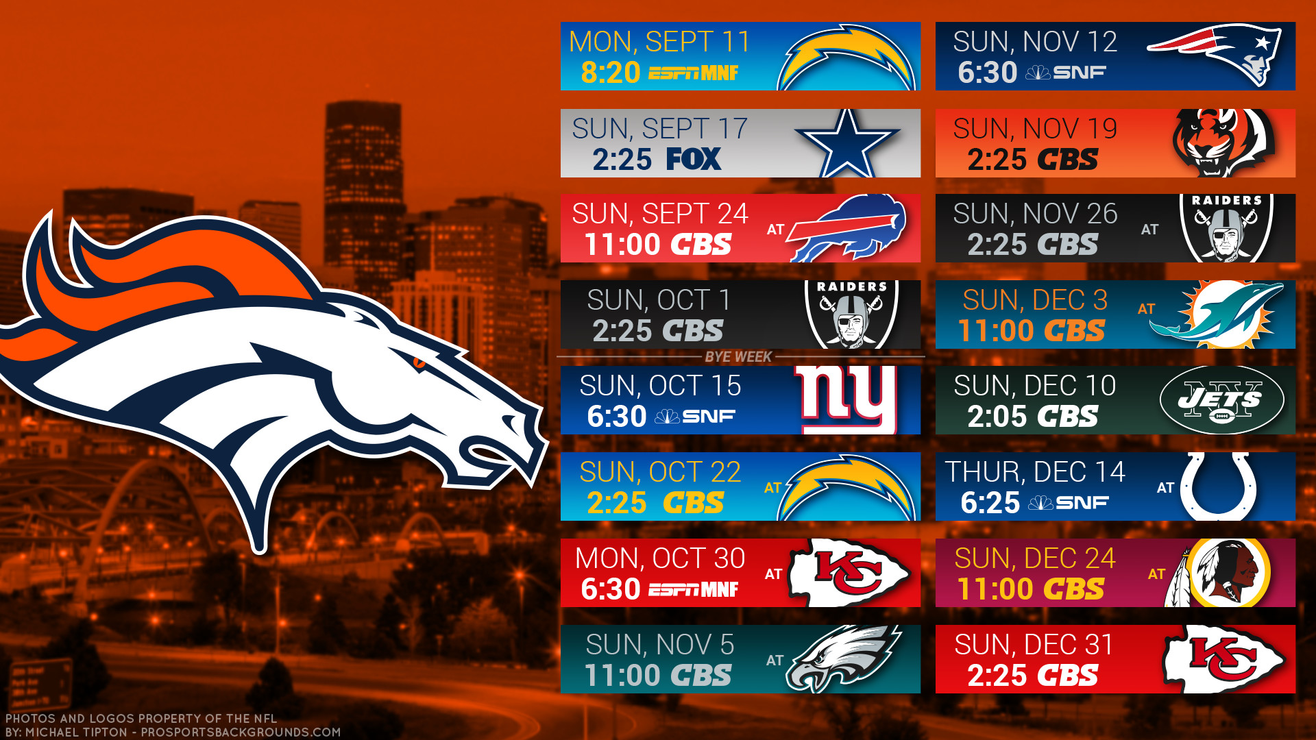 Denver Broncos 2017 schedule city football logo wallpaper free pc desktop  computer …